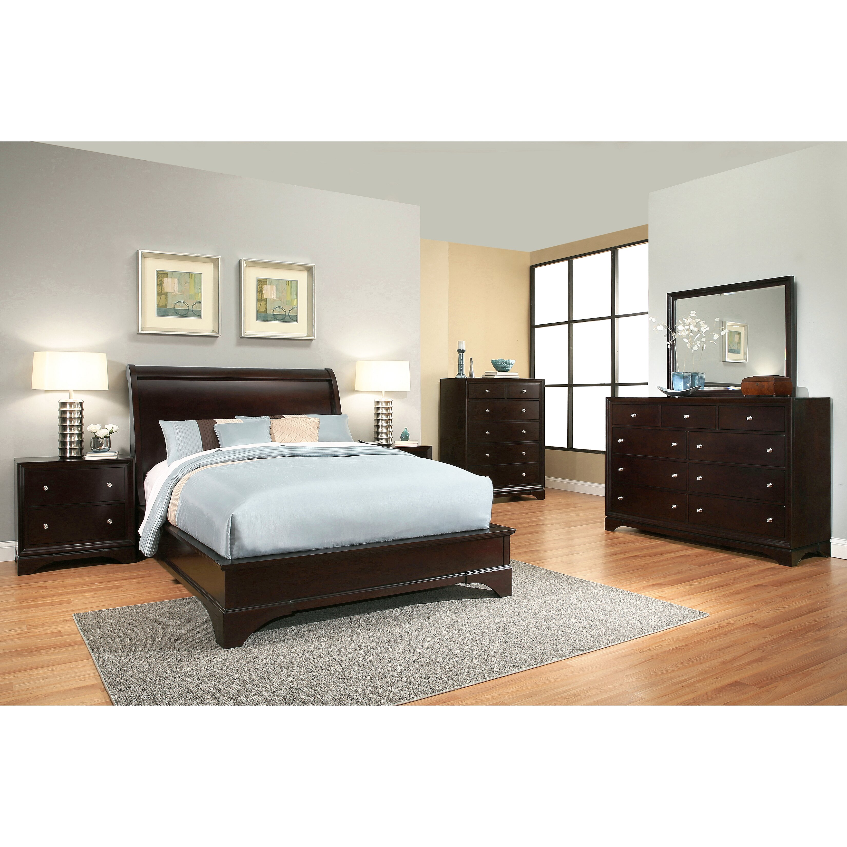 latitude run juliana sleigh 6 piece bedroom set wayfair