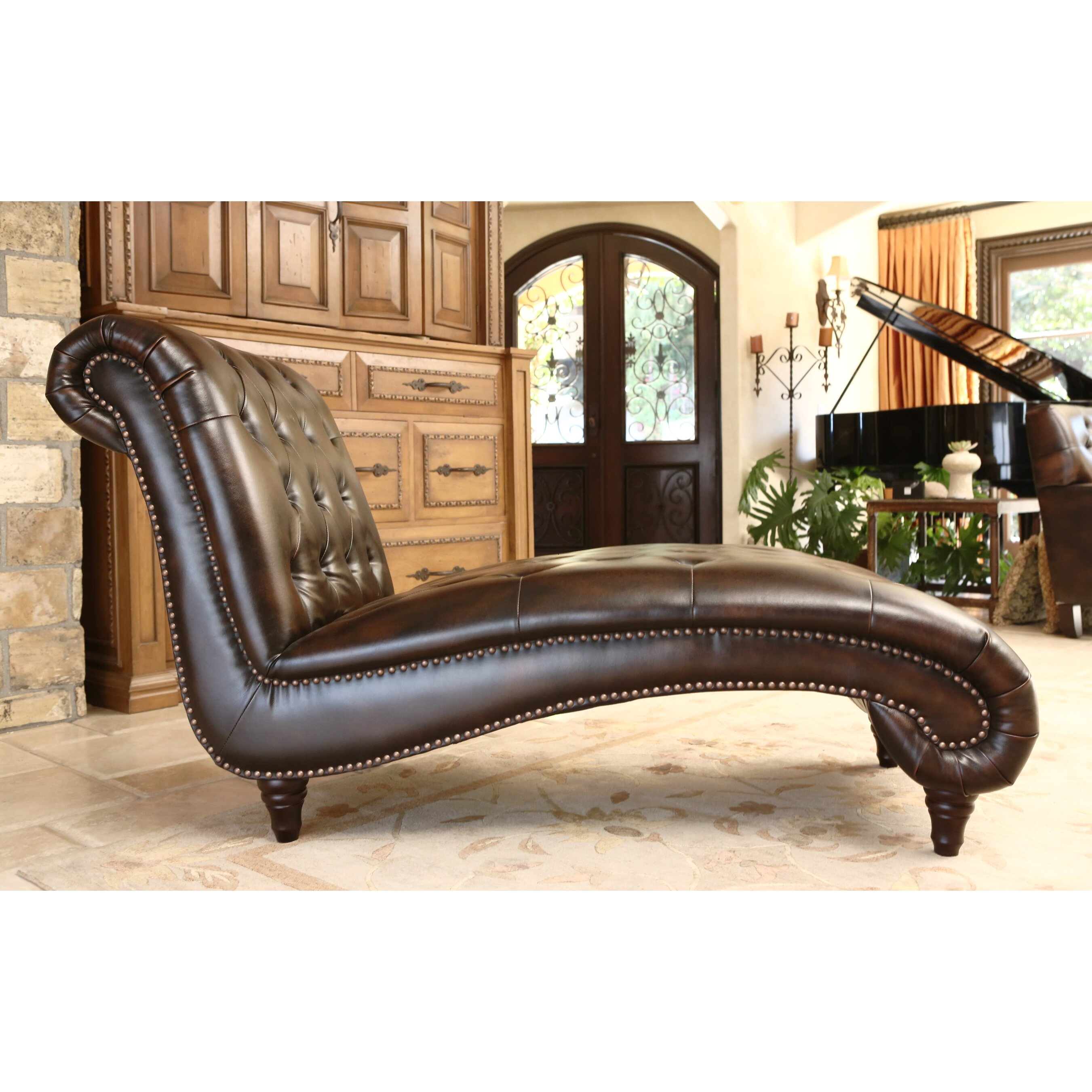 Abbyson living mirabello chaise lounge reviews wayfair for Abbyson living sedona leather chaise recliner