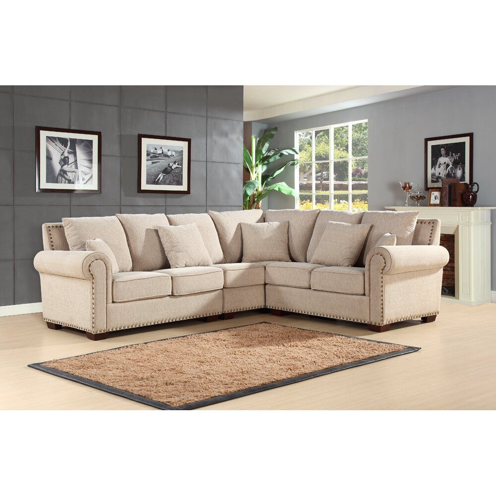 Abbyson Living Mona Sectional Reviews Wayfair