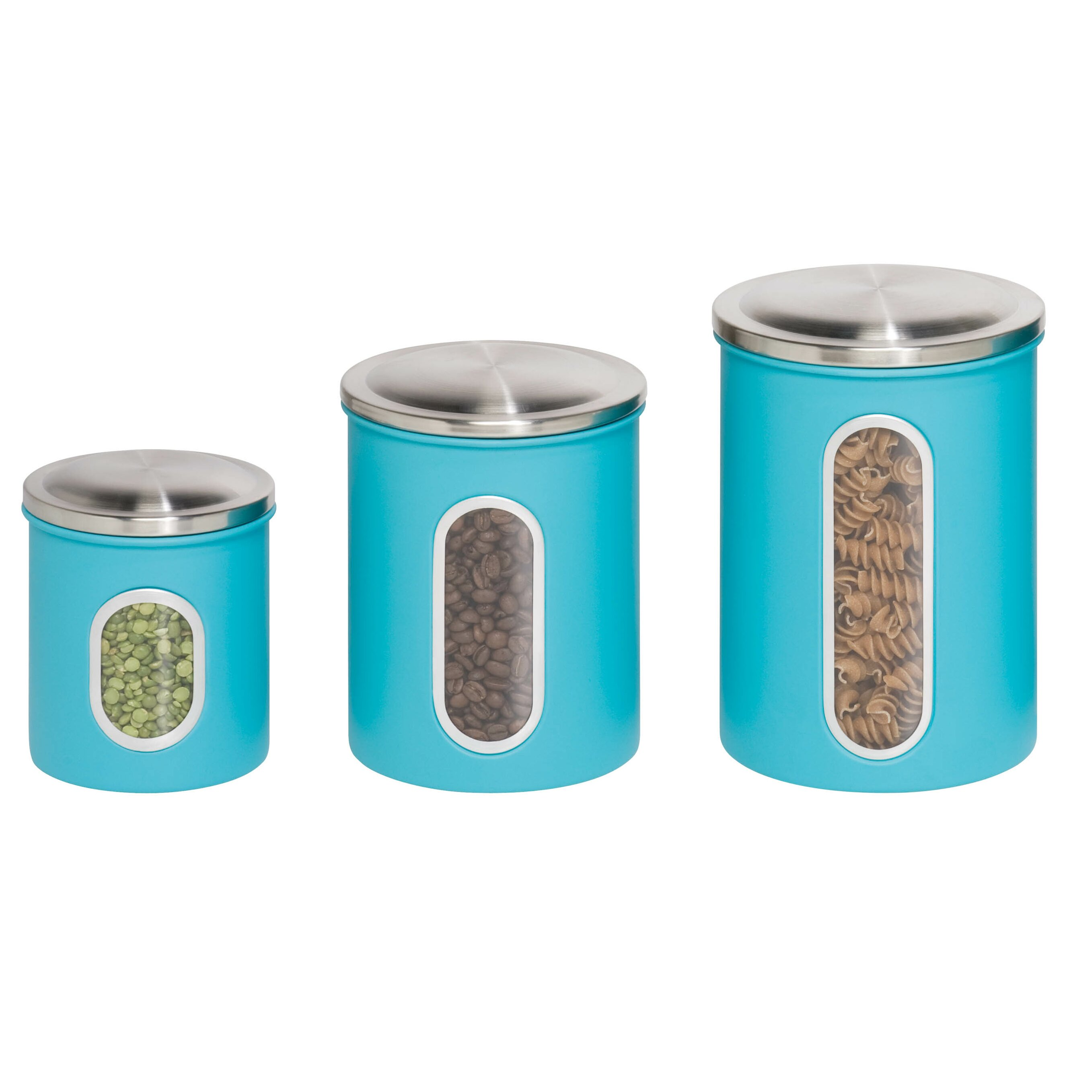 Colored Glass Kitchen Canister Sets