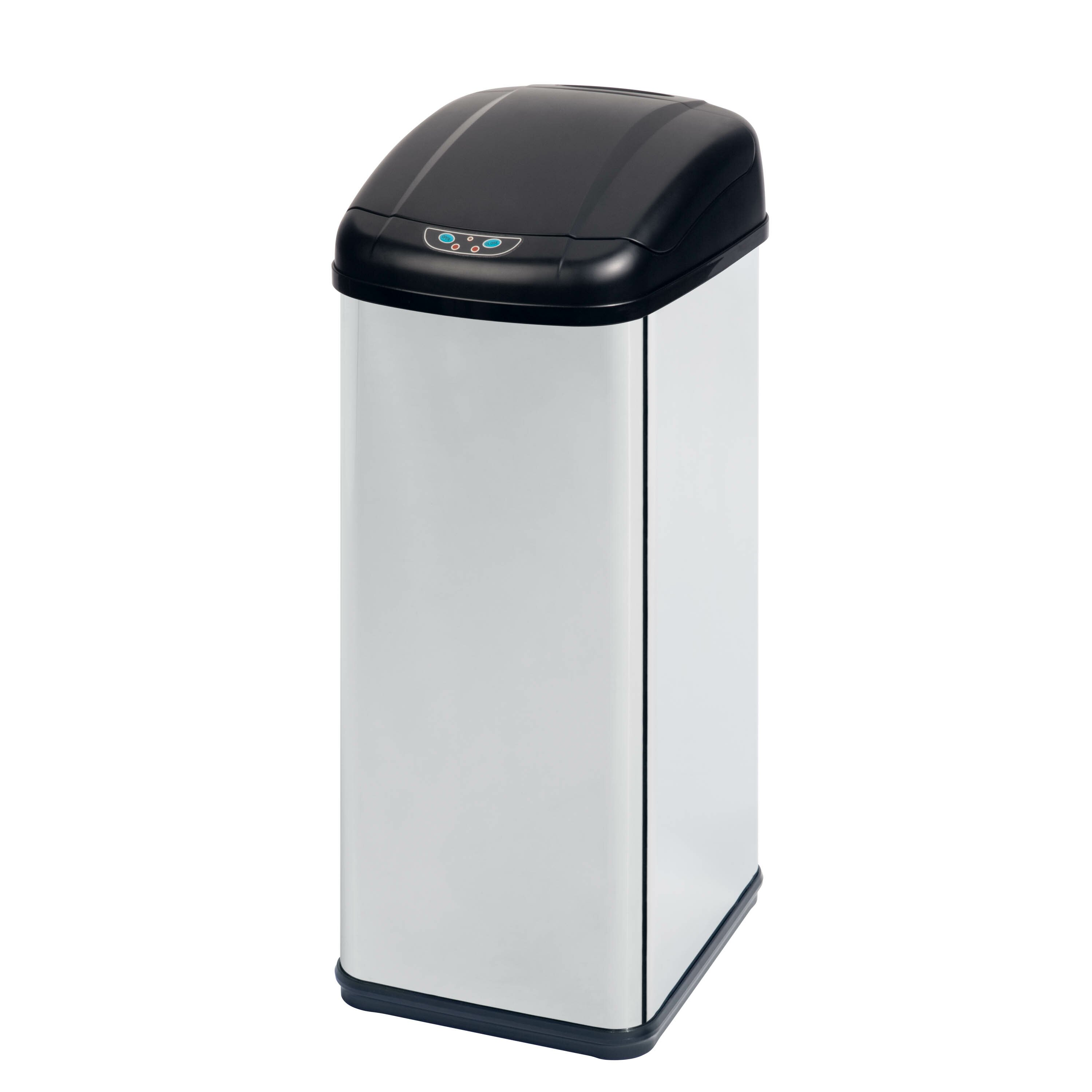 honey can do 13 7 gallon motion sensor stainless steel trash can reviews. Black Bedroom Furniture Sets. Home Design Ideas