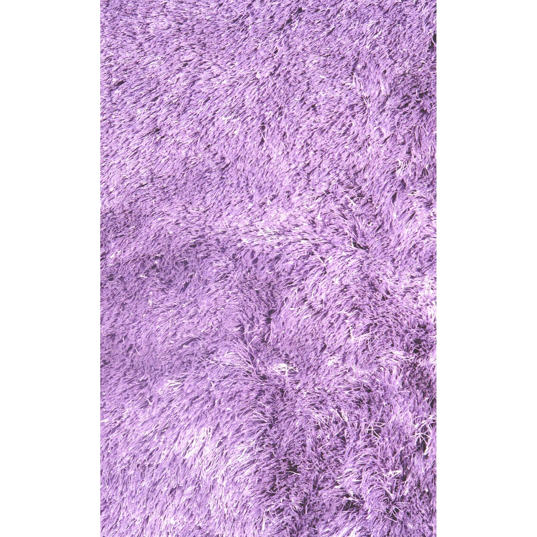 Lavender Rug: LA Rugs Silky Shag Lavender Indoor Area Rug & Reviews
