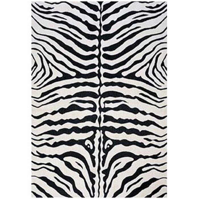 LA Rugs Supreme Black/White Zebra Print Area Rug & Reviews