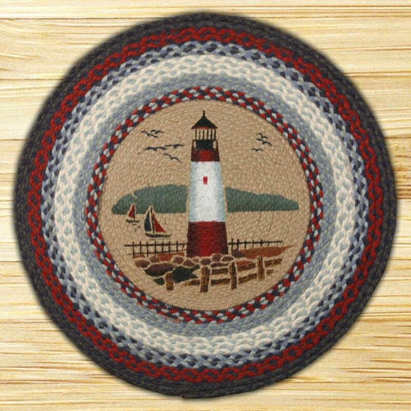 EarthRugs Lighthouse Printed Area Rug & Reviews