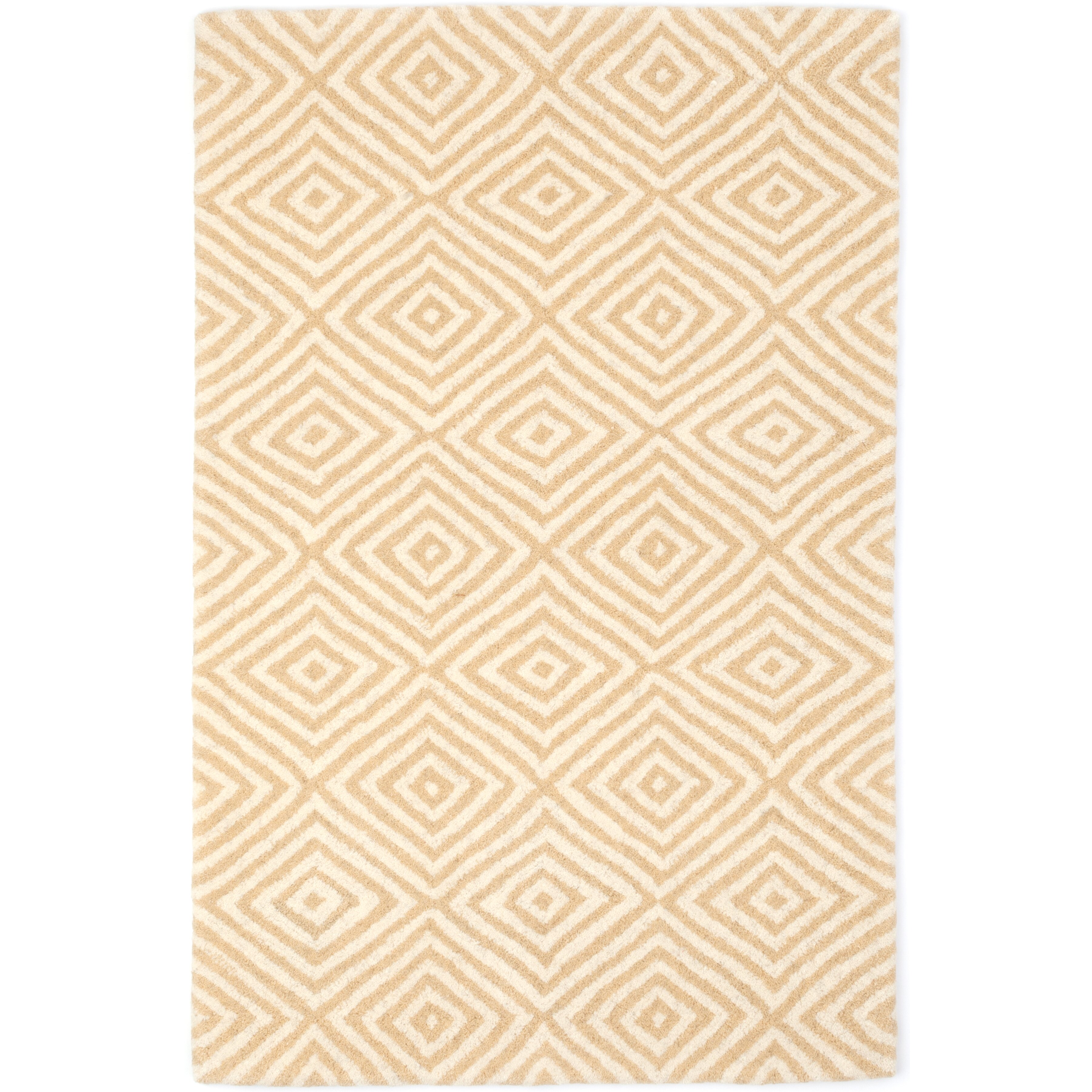 Dash and albert rugs tufted beige area rug wayfair for Dash and albert wool rugs