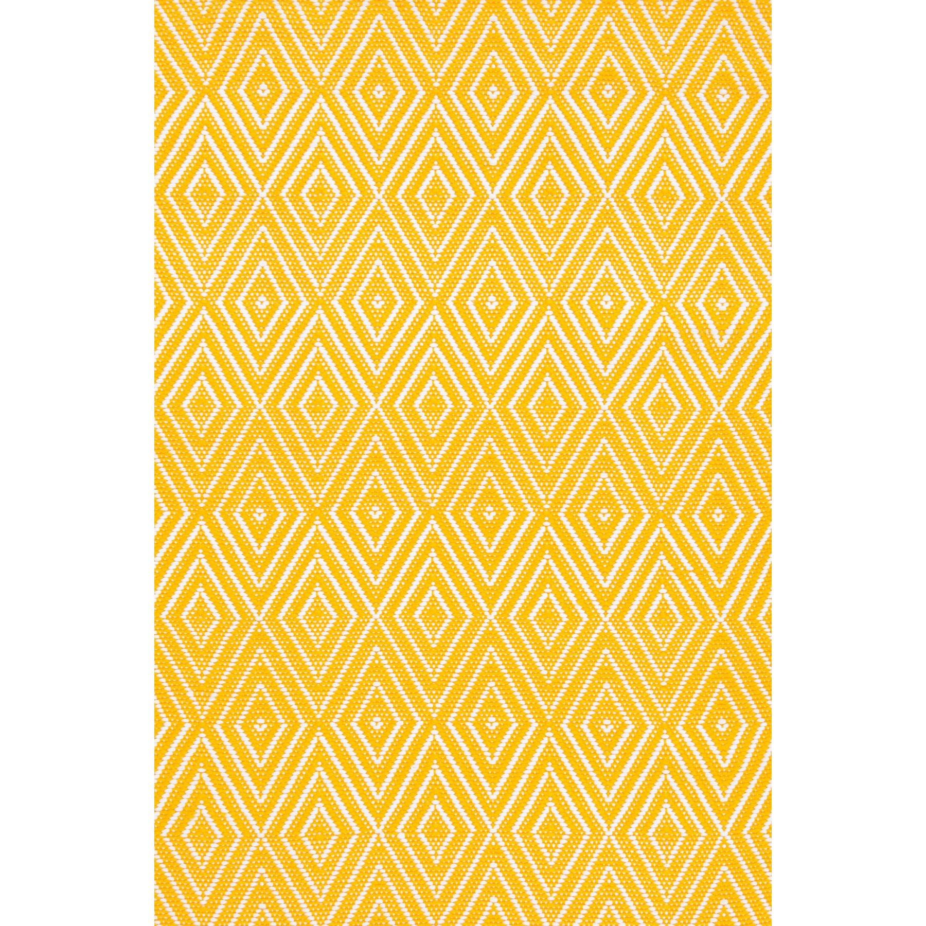 Dash And Albert Rugs Diamond Hand Woven Yellow Indoor