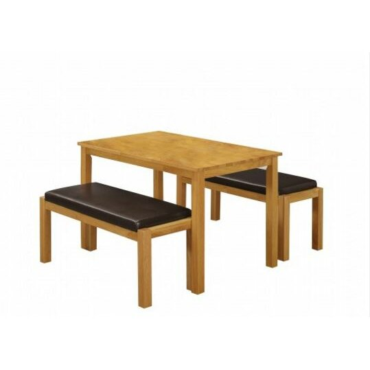 Home Zone Furniture Fenton Dining Table And 2 Benches Wayfair Uk