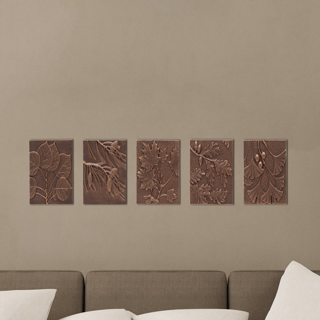 Whitehall products maple leaf wall decor reviews wayfair for Leaf wall decor