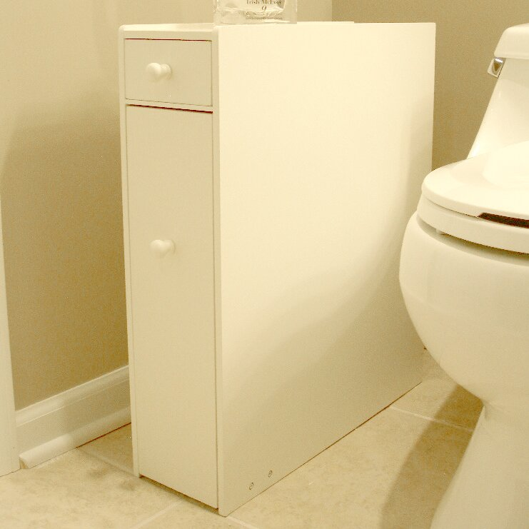"Wayfair Free Standing Kitchen Cabinets: Proman Bathroom 22.75"" X 6.25"" Free Standing Cabinet"