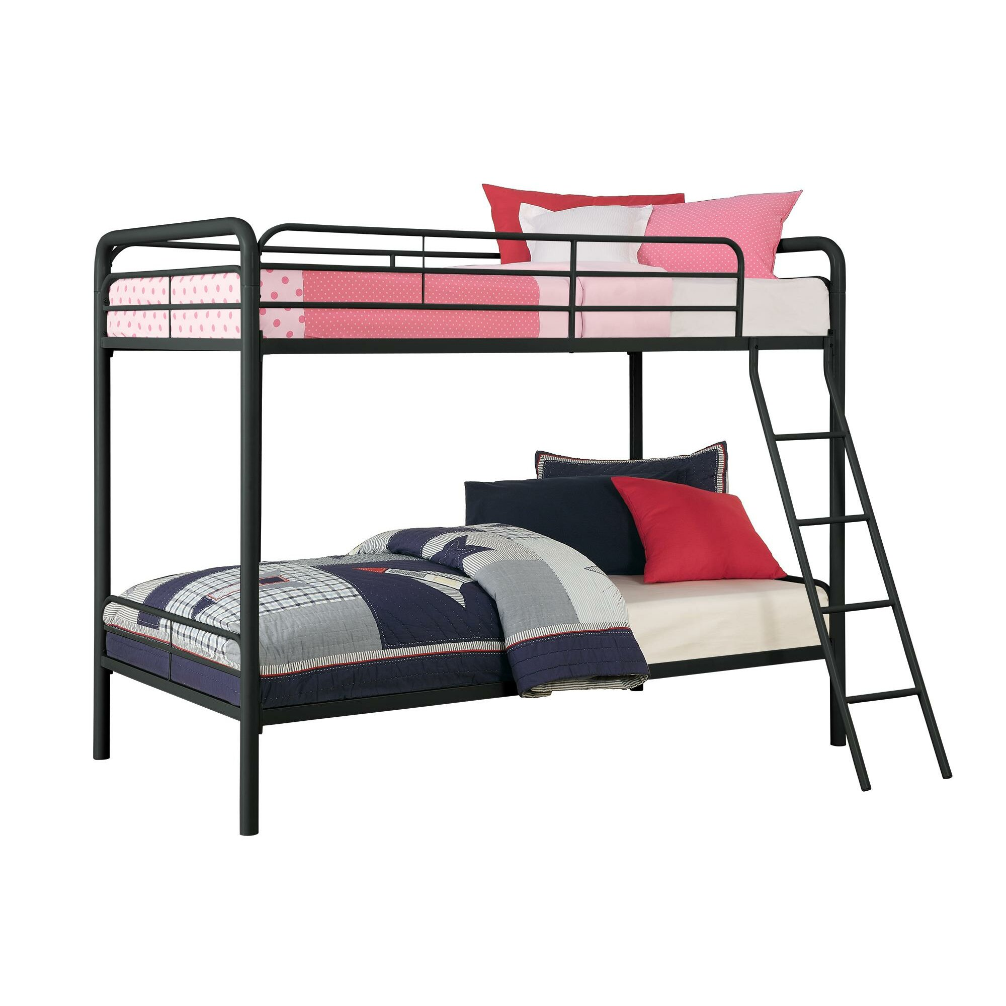 Dhp twin bunk bed reviews wayfair - Bunk cot beds for twins ...
