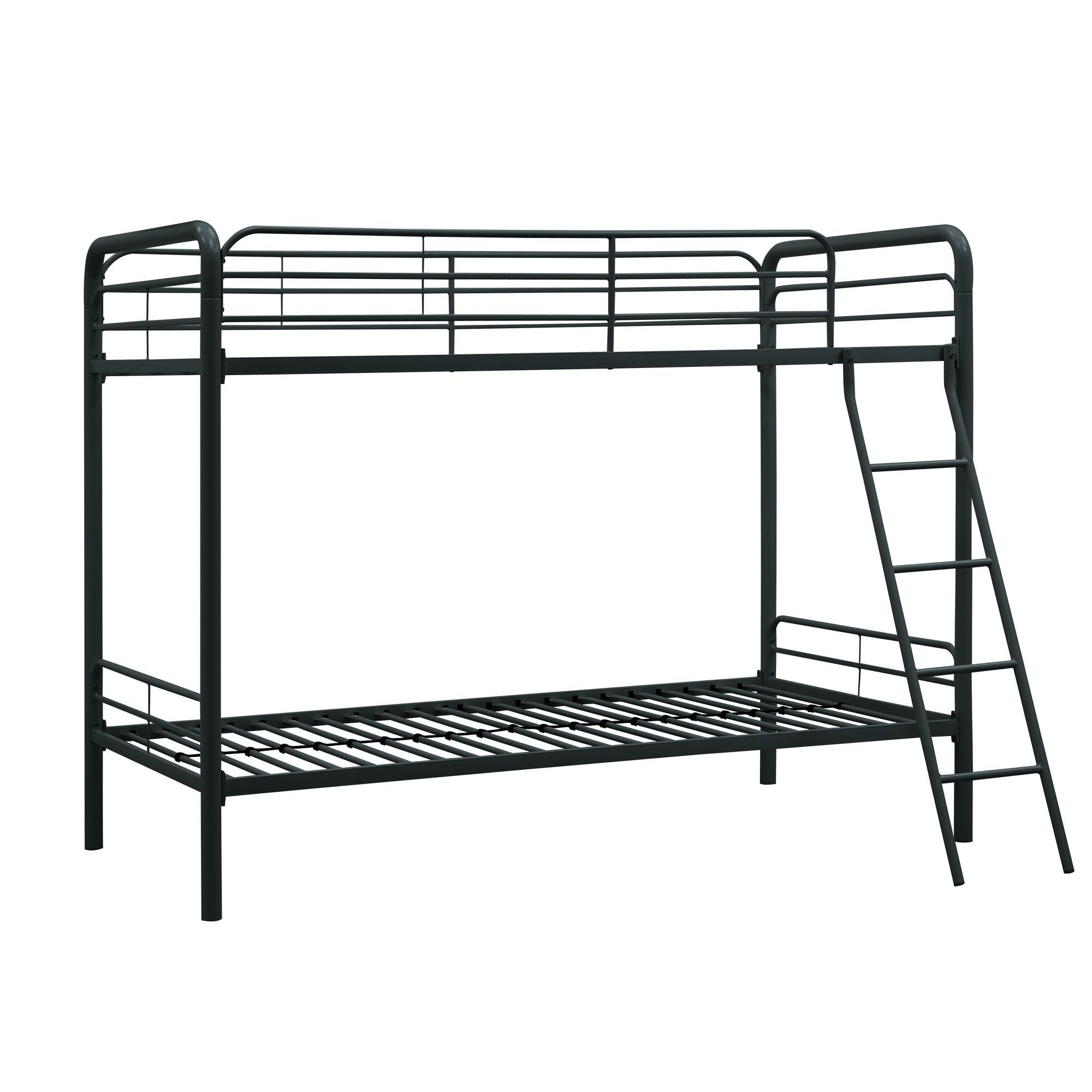 Metal Twin Over Futon Bunk Bed White