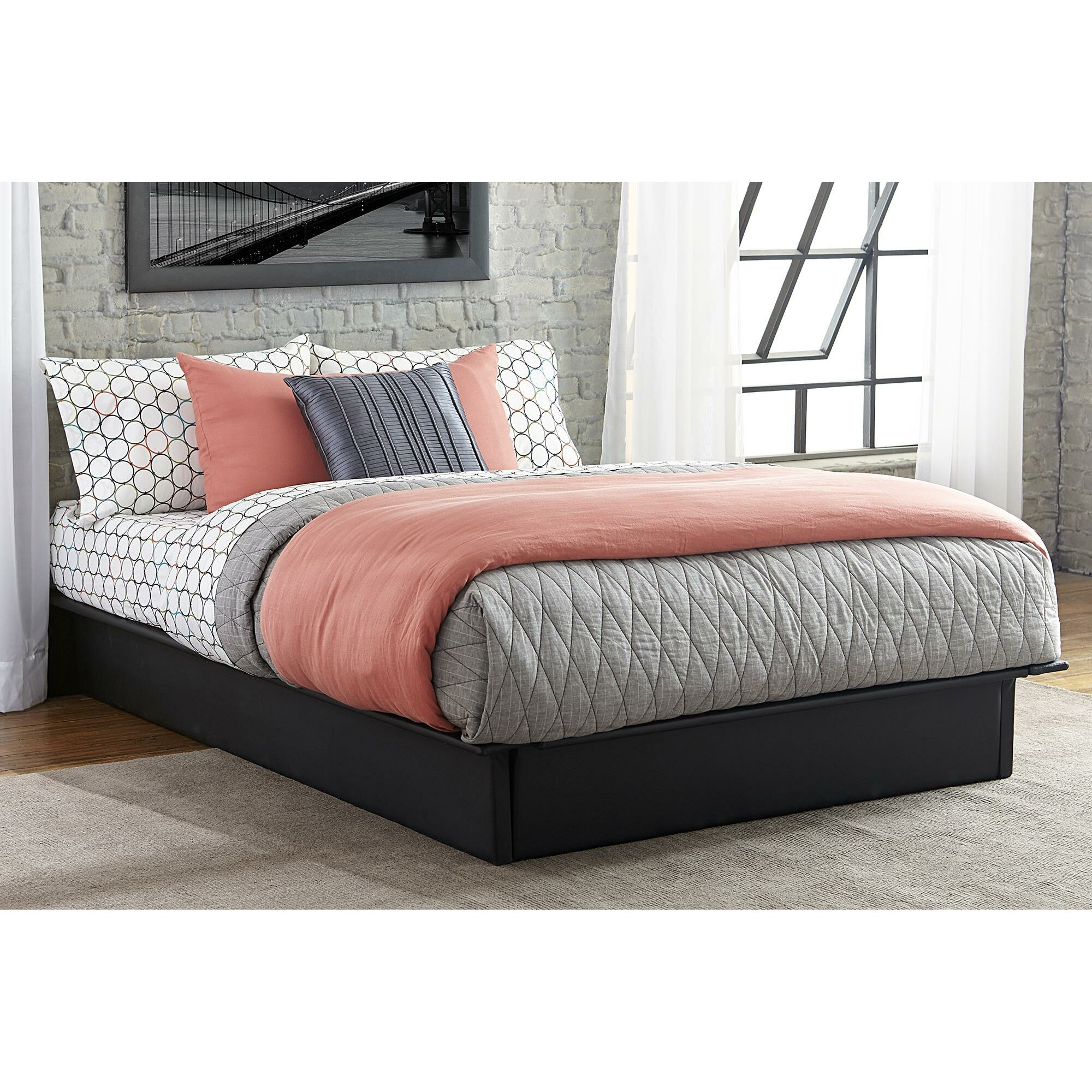 DHP Upholstered Platform Bed & Reviews