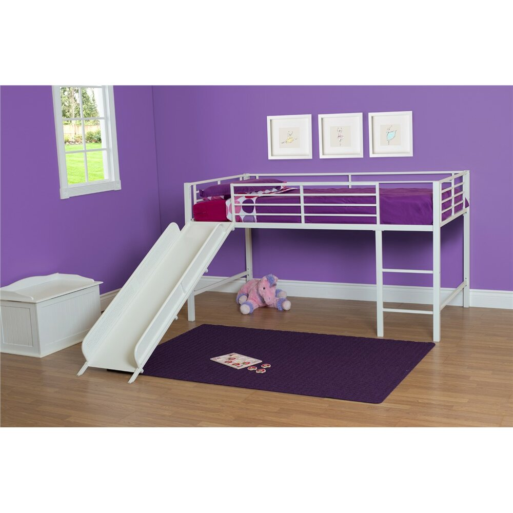 Junior Twin Low Loft Bed By Dhp