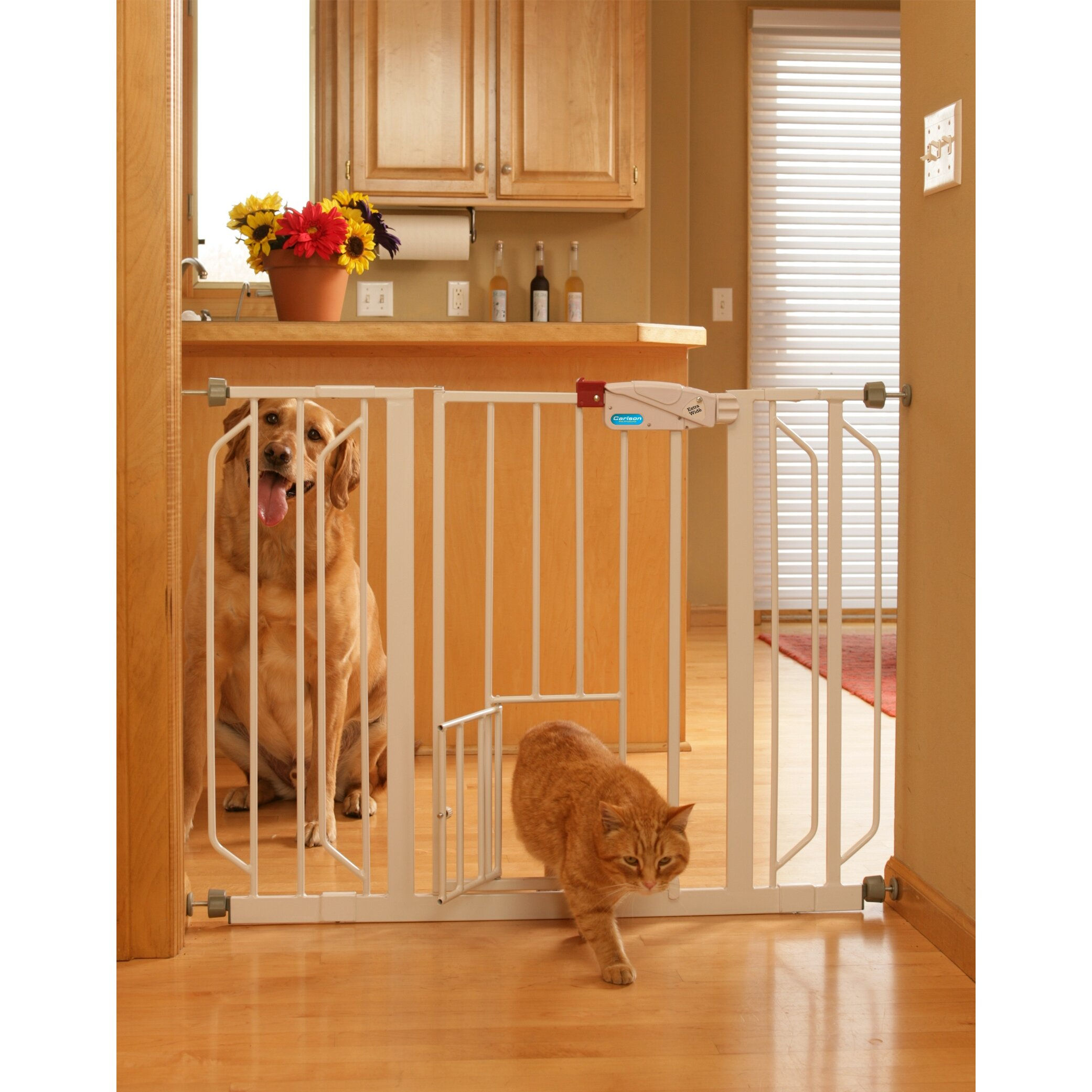 Carlson Pet Extra Wide Pet Gate with Pet Door & Reviews ...