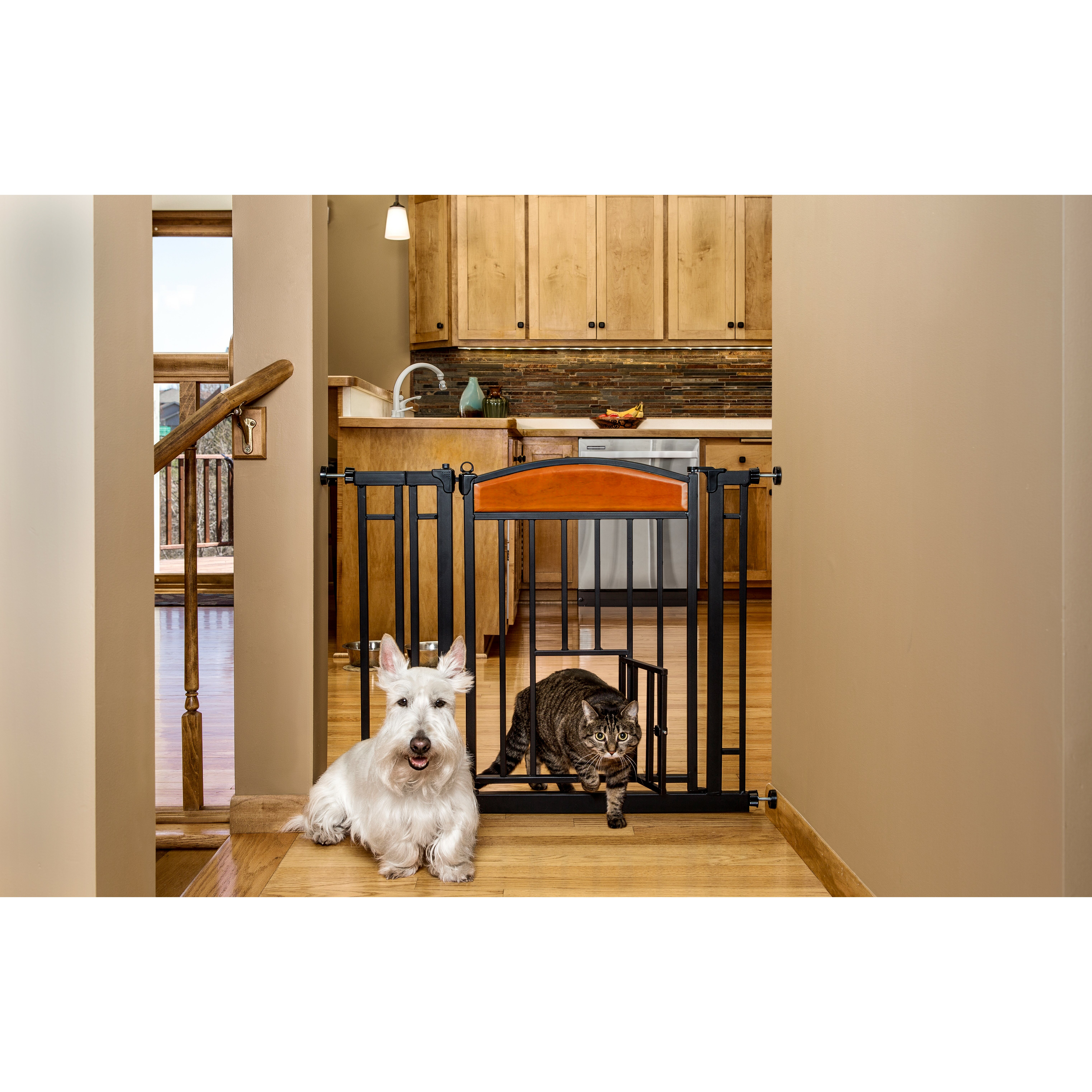 Carlson Pet Design Studio Walk Through Pet Gate With Small