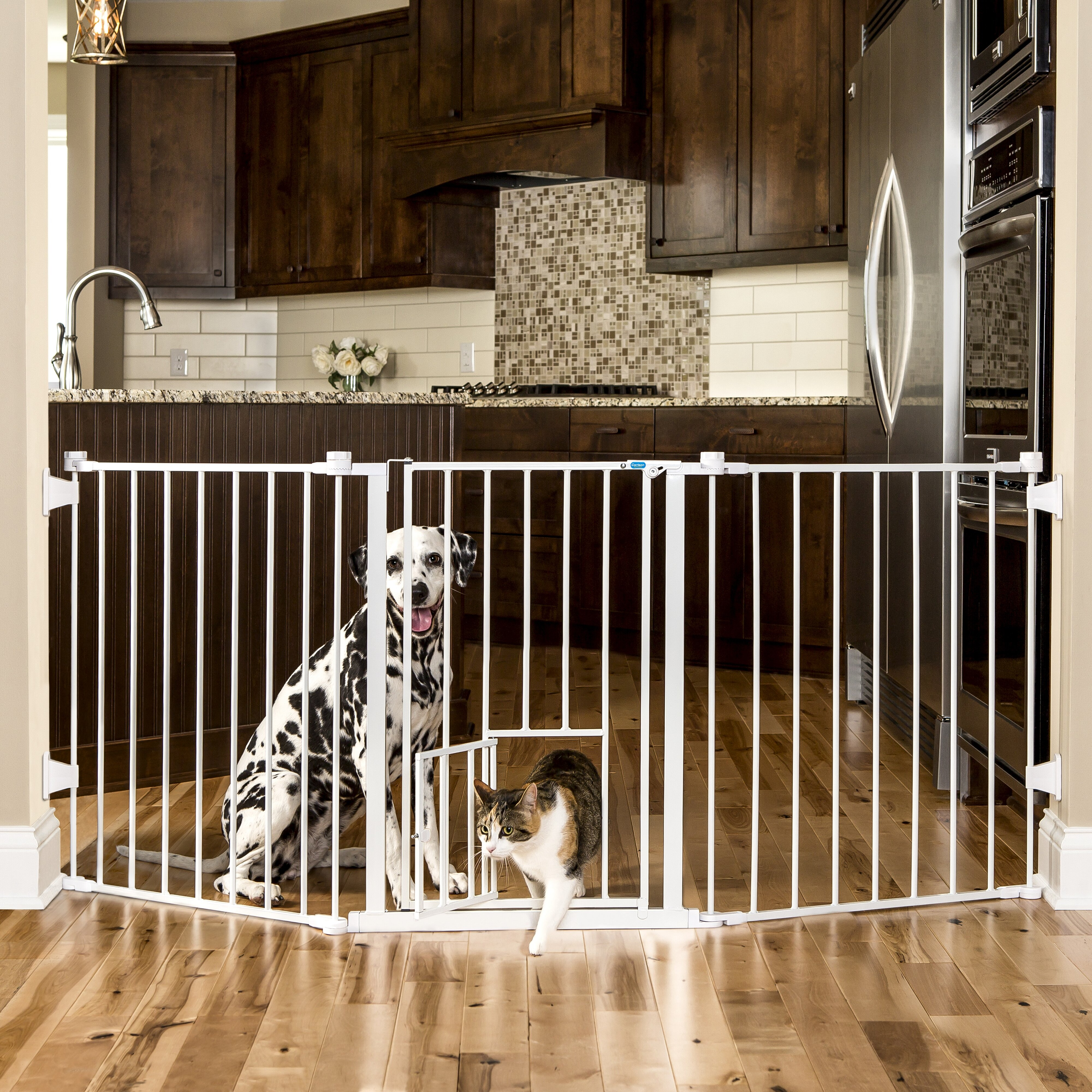 Carlson Pet Flexi Pet Gate Amp Reviews Wayfair