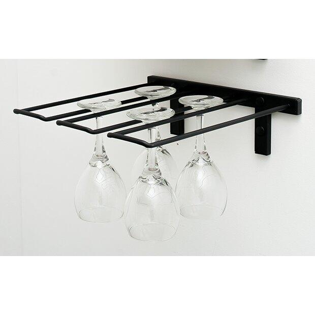 vintageview wall mounted wine glass rack reviews wayfair. Black Bedroom Furniture Sets. Home Design Ideas