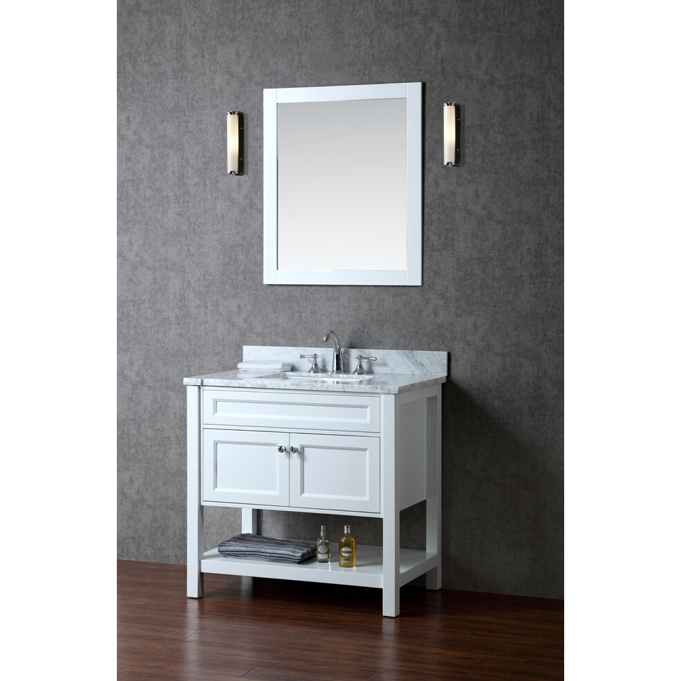Ariel Bath Mayfield 36 Single Sink Bathroom Vanity Set With Mirror Amp