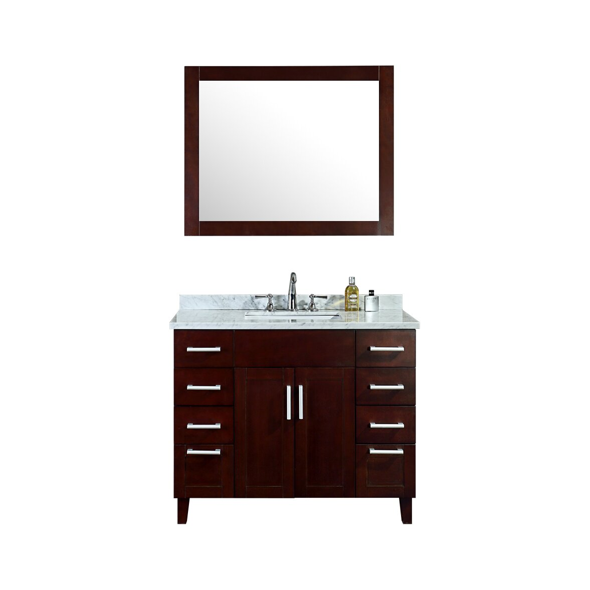 Ariel bath frampton 42 single bathroom vanity set with for Bath and vanity set