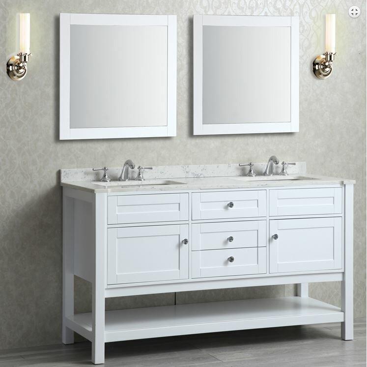 Ariel Bath Mayfield 60 Double Bathroom Vanity Set With