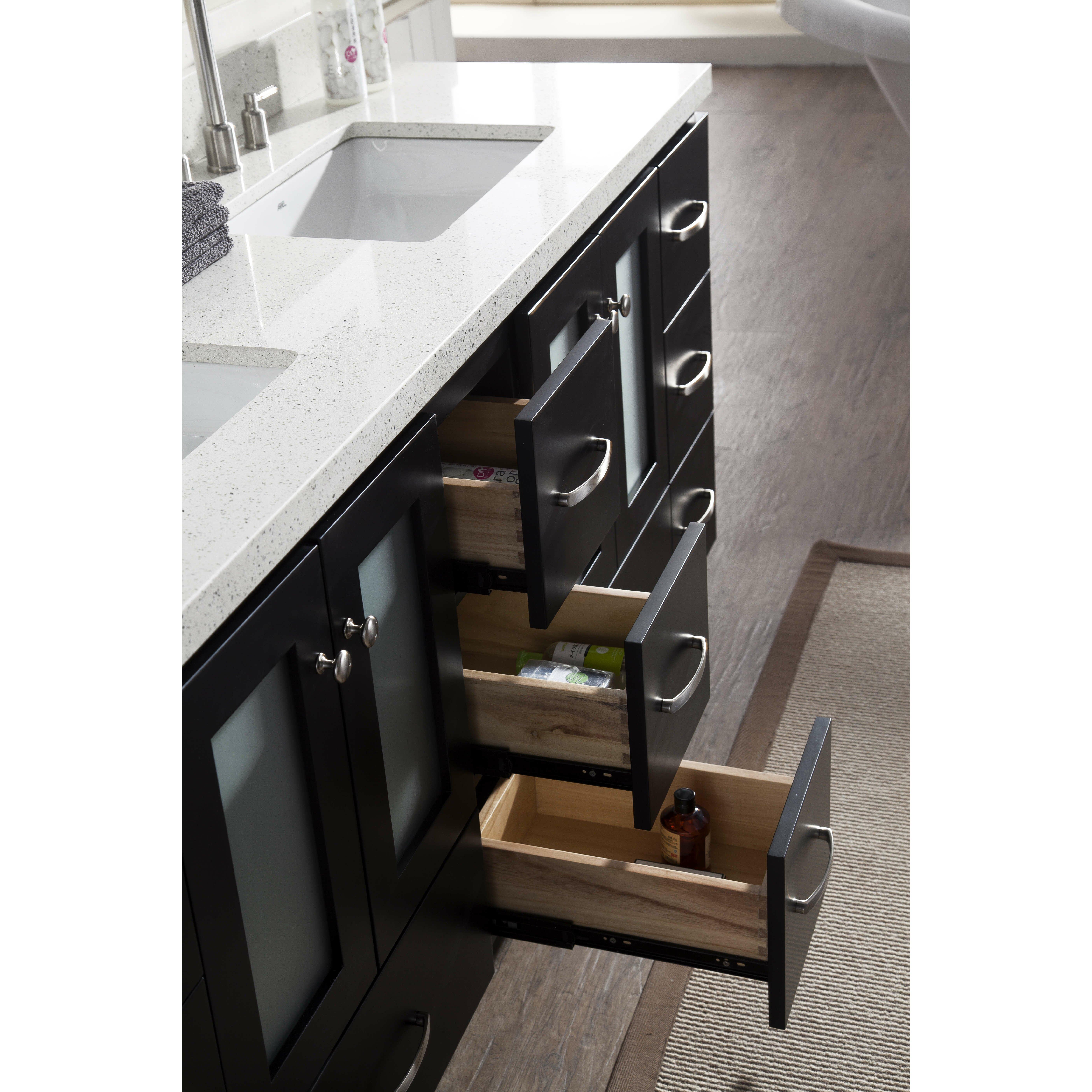 Ariel Bath Americano 73 Double Sink Vanity Set With