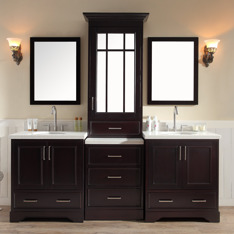Ariel Bath Stafford 85 Double Sink Vanity Set With Mirror Wayfair