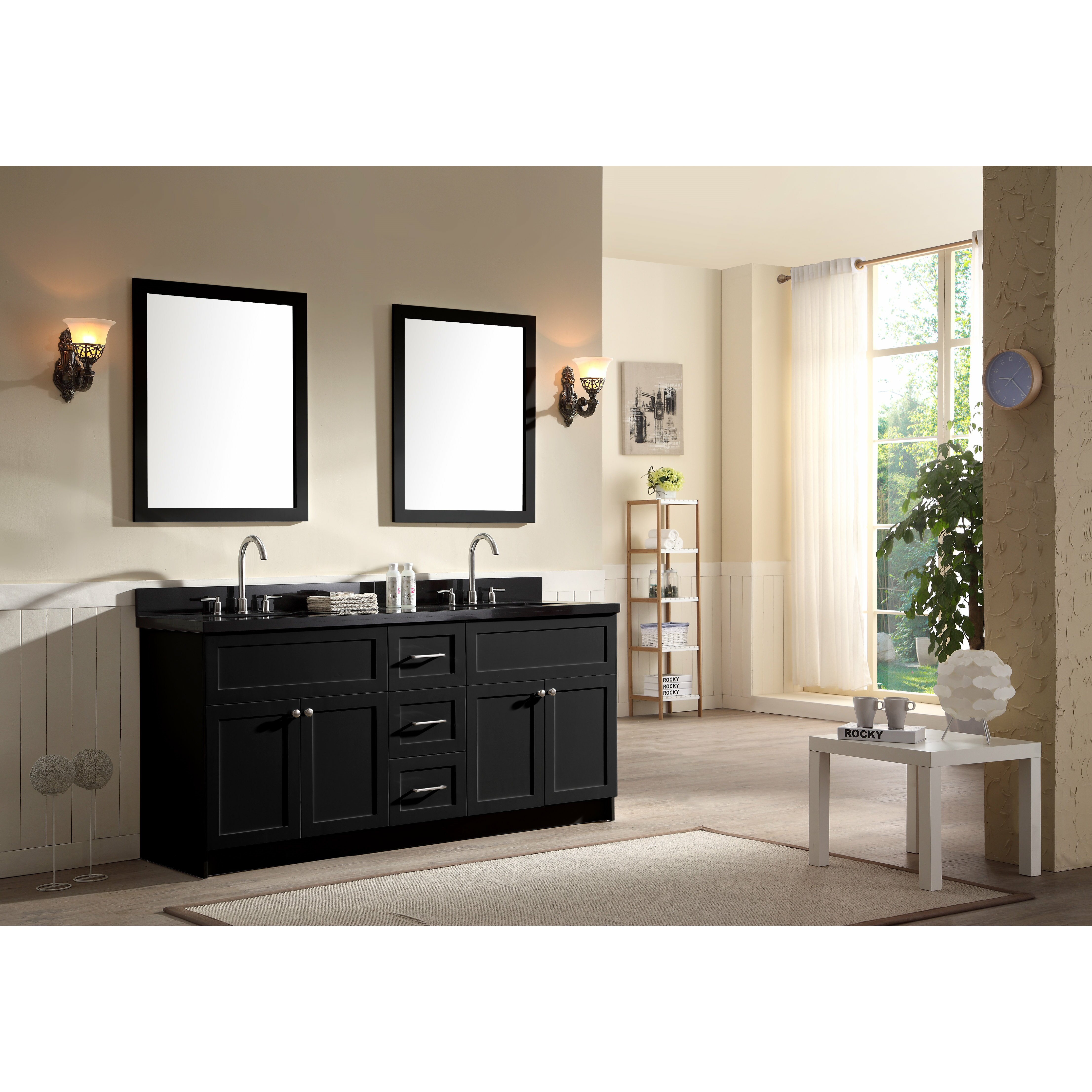 Ariel Bath Hamlet 73 Double Bathroom Vanity Set With