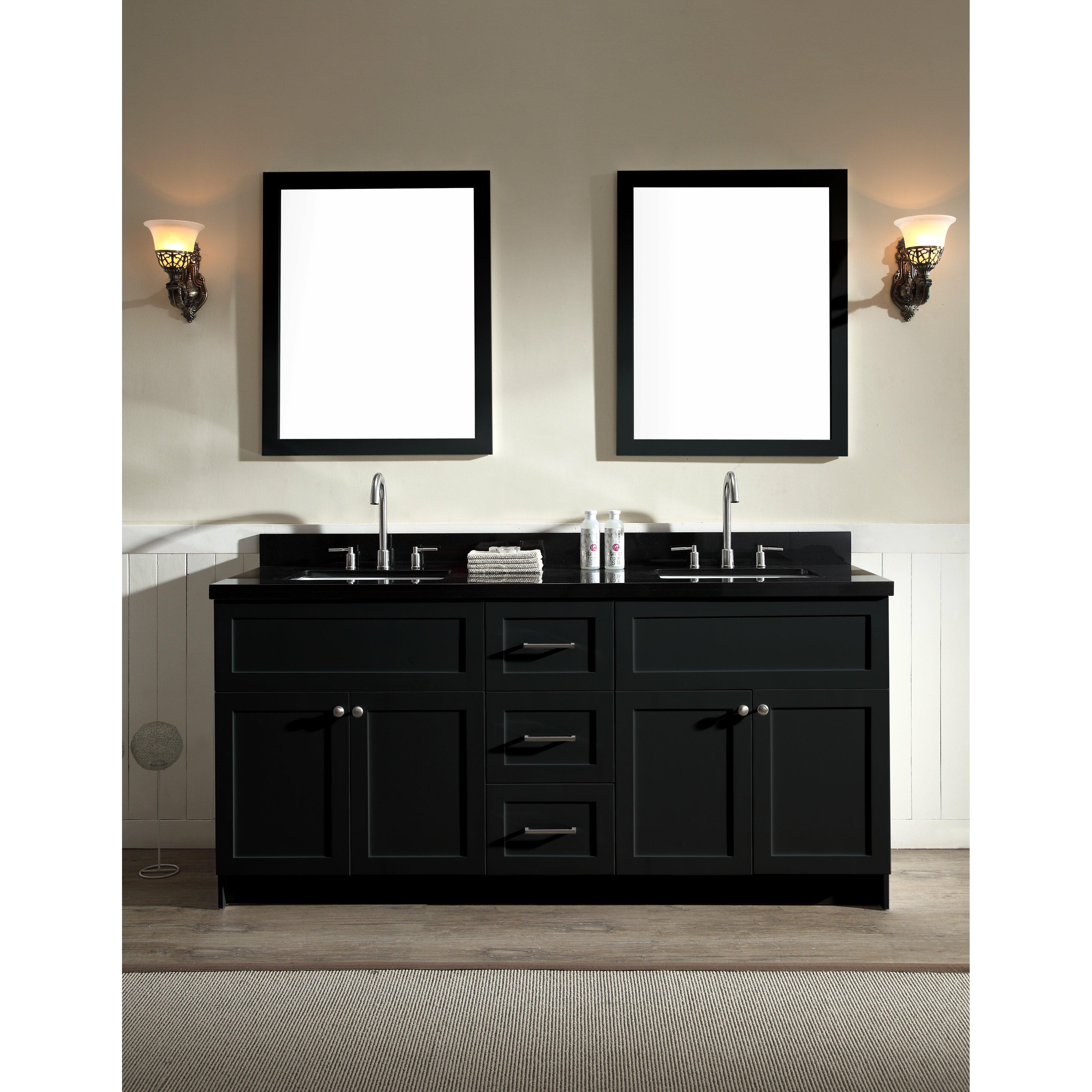 Ariel Bath Hamlet 73 Double Bathroom Vanity Set With Mirrors Reviews Wayfair