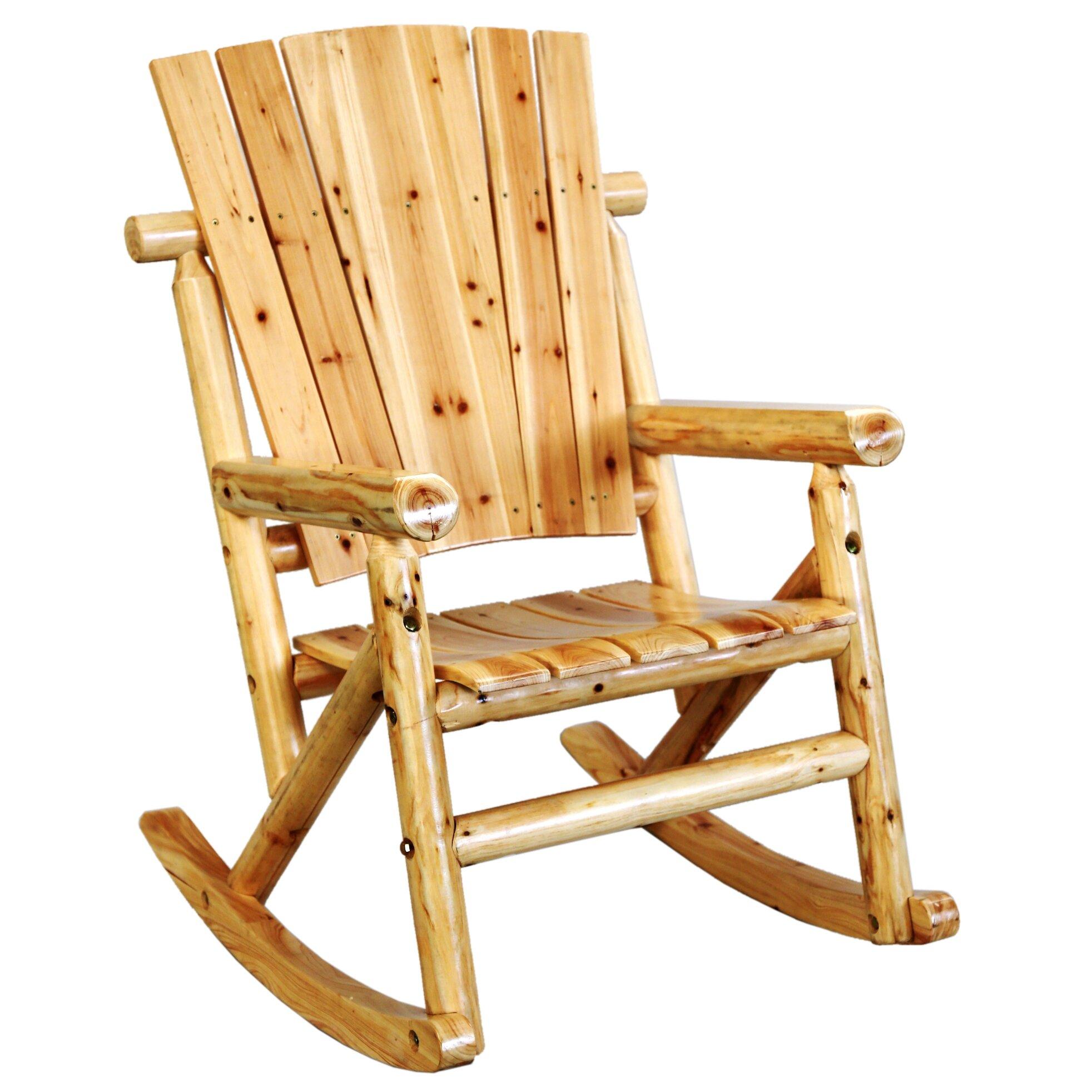 LeighCountry Aspen Single Rocking Chair II & Reviews  Wayfair