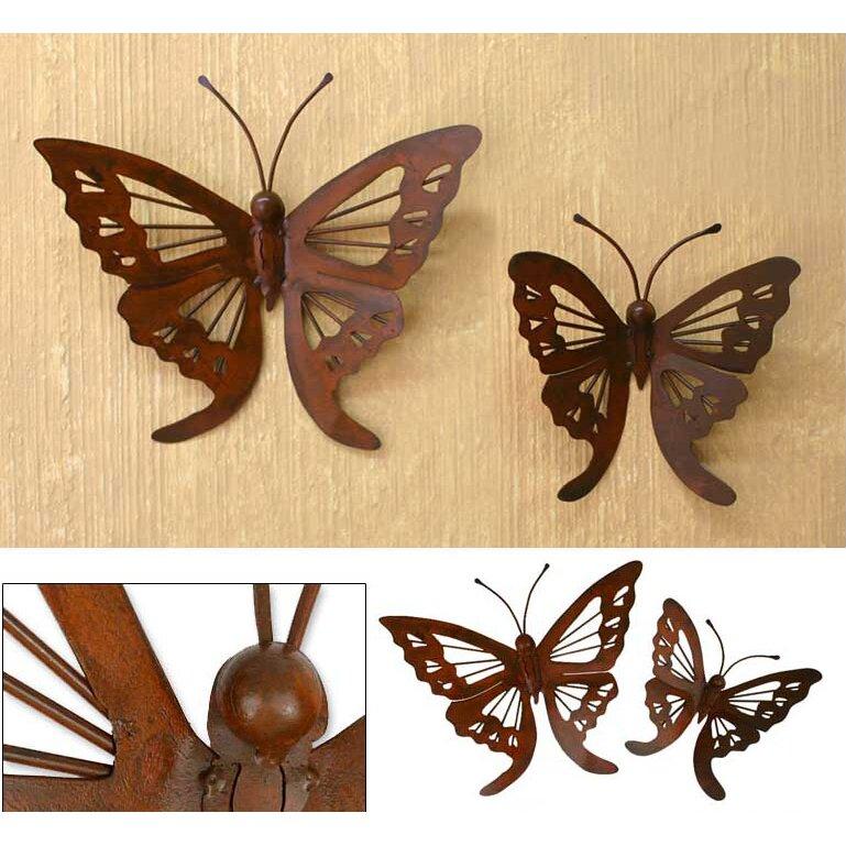 Butterfly wall decor set :