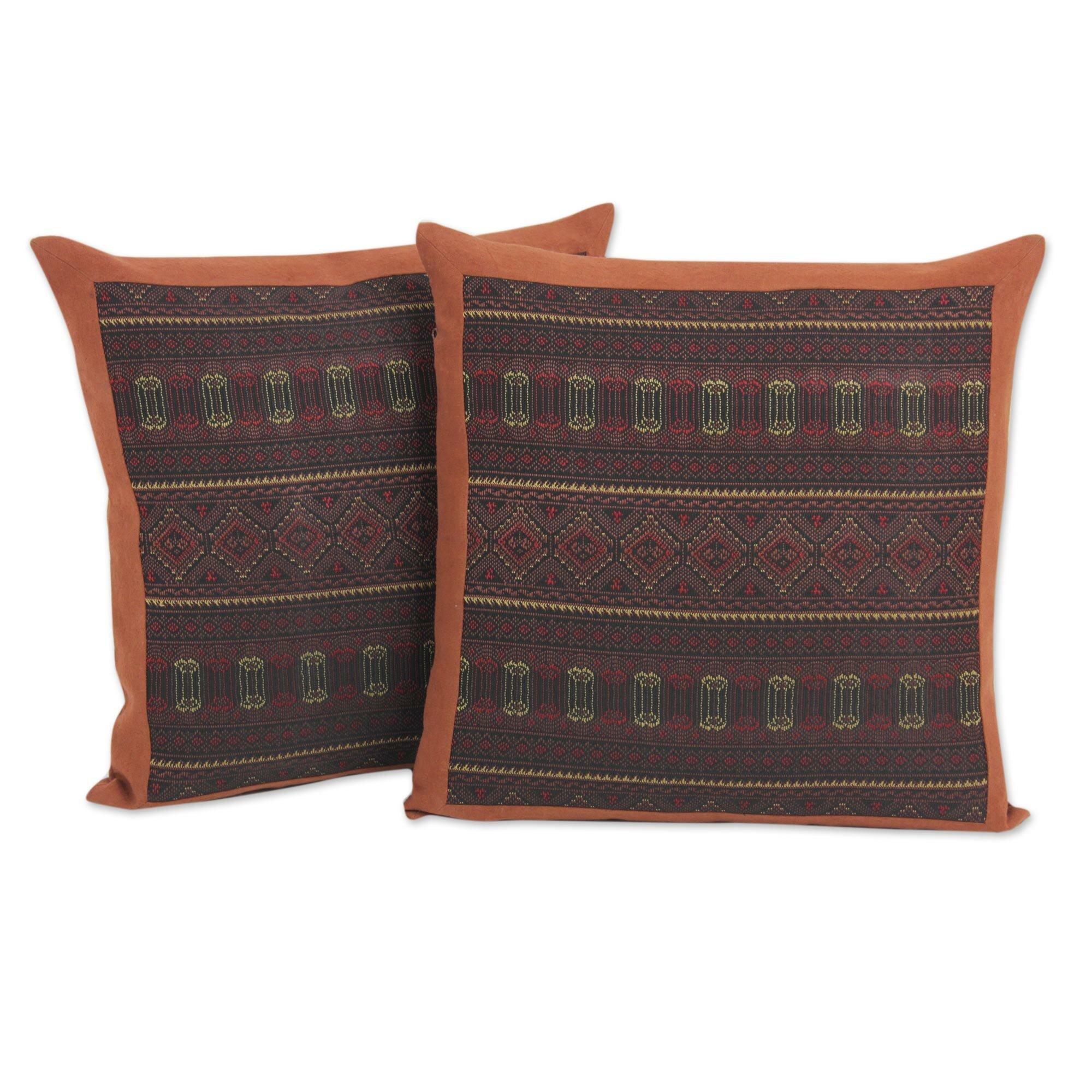 Throw Pillow Covers Cotton : Novica Keawpankanlaya Embroidery Cotton Throw Pillow Cover Wayfair