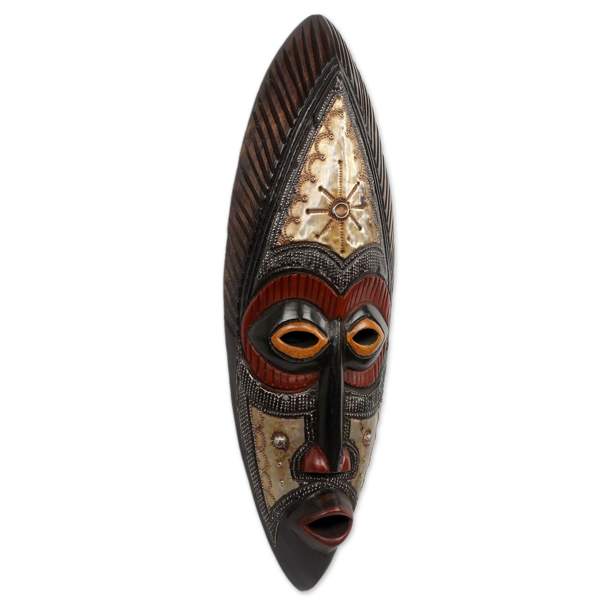 Novica Abdul Aziz Mohamadu Authentic Hand Carved Akan