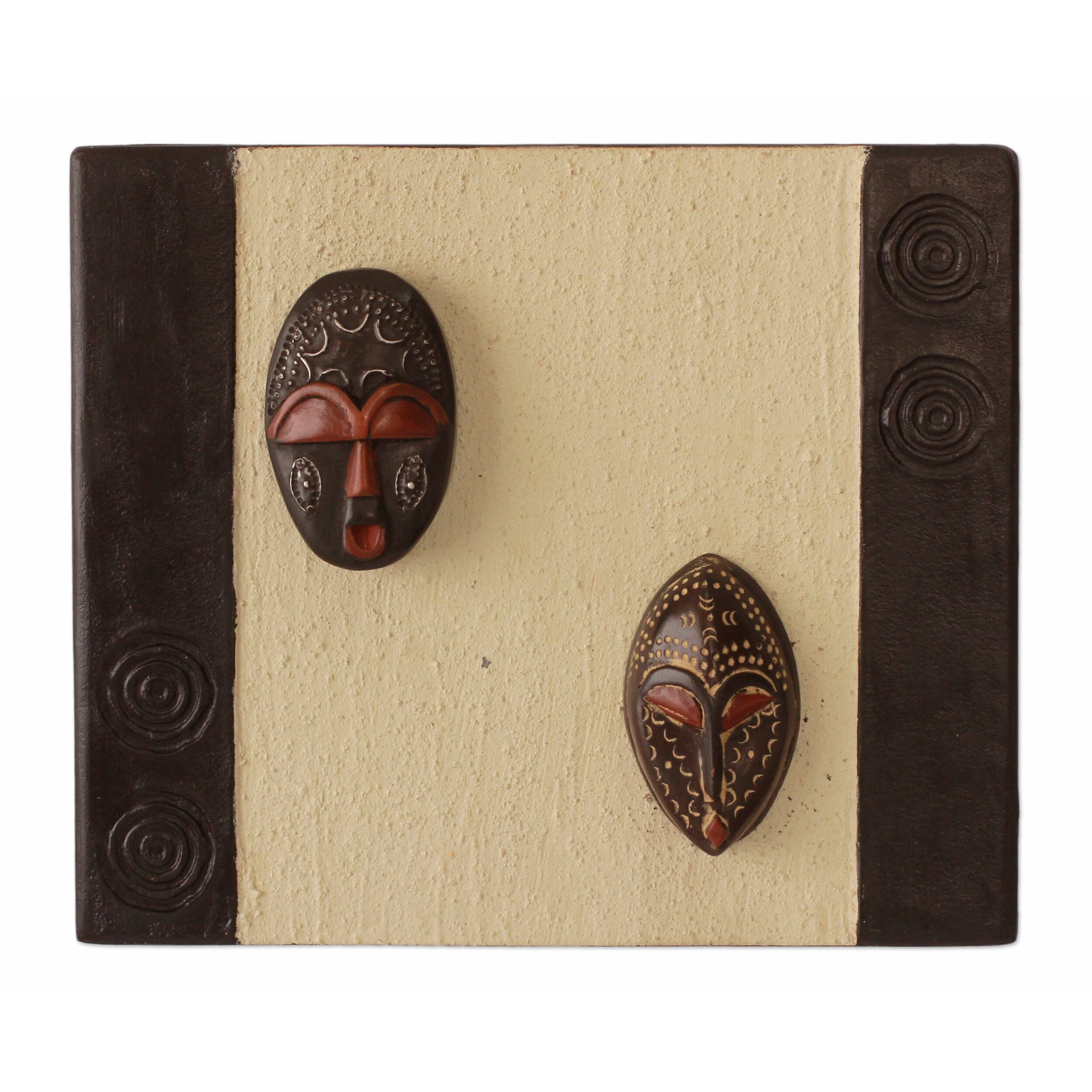 Novica thank you gift hand crafted african masks wall for African wall decoration