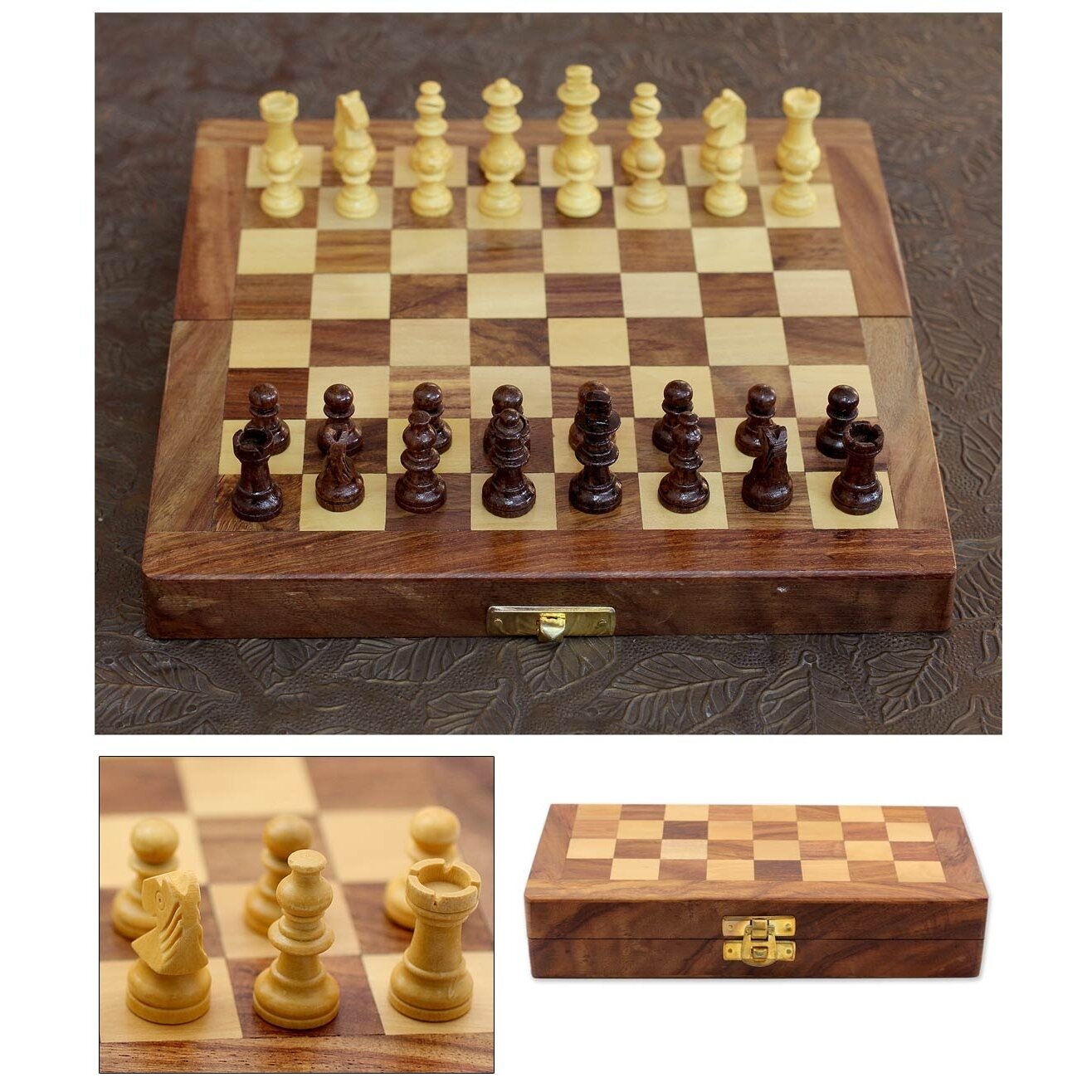 Novica fair trade decorative india wood chess set game reviews wayfair - Ornate chess sets ...