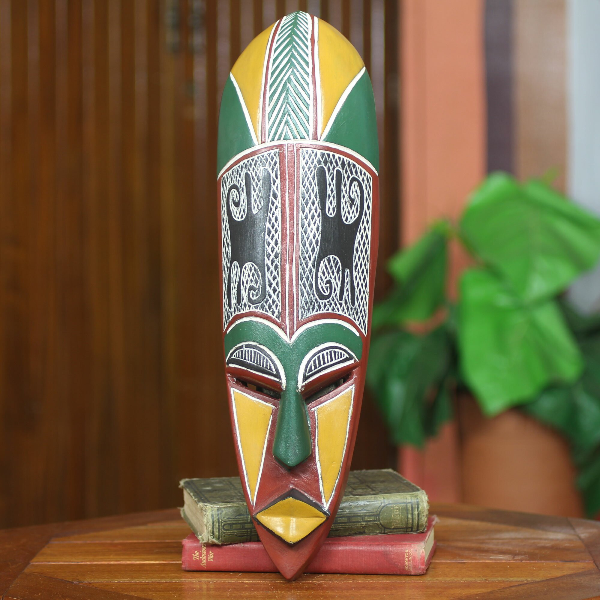 Novica fair trade african mask wall decor wayfair for African wall decoration