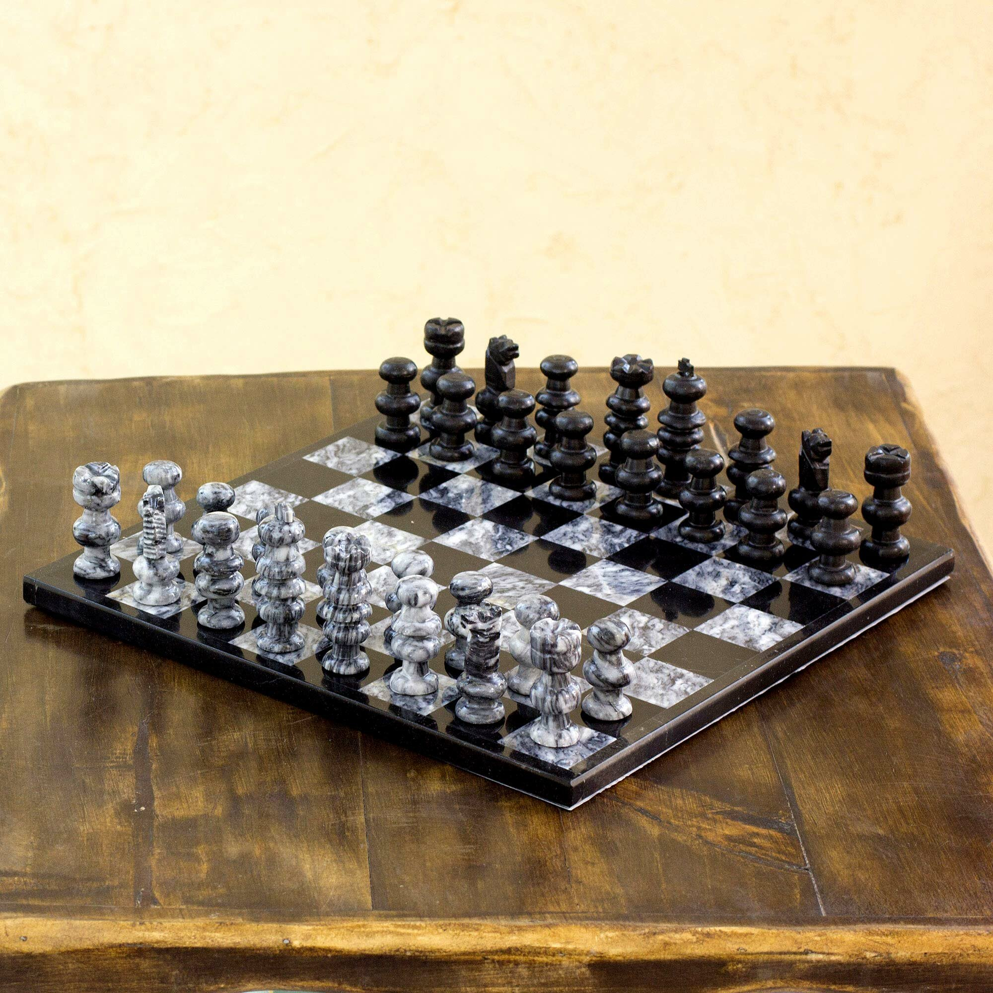 Novica Hand Crafted Marble Chess Game Set Wayfair