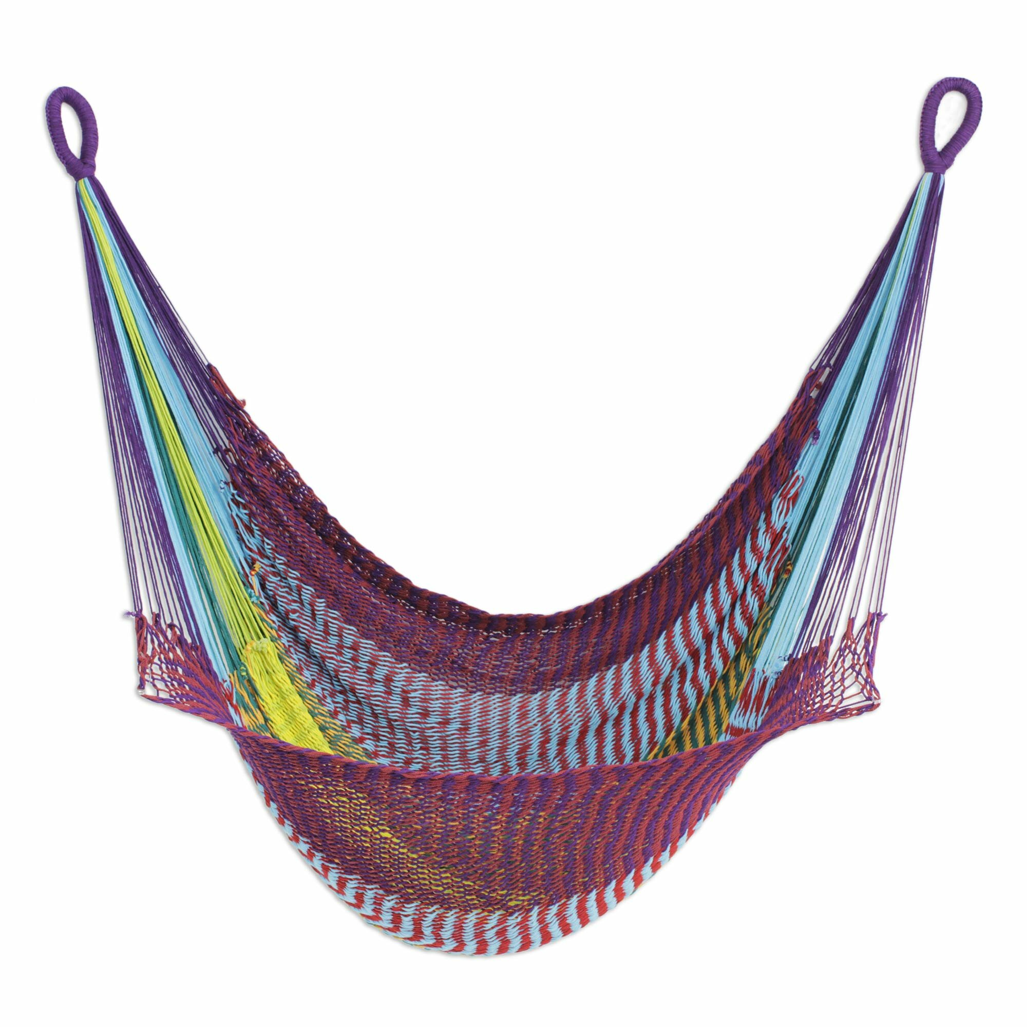 Novica Hand Woven Rope Swing Hammock Chair Wayfair
