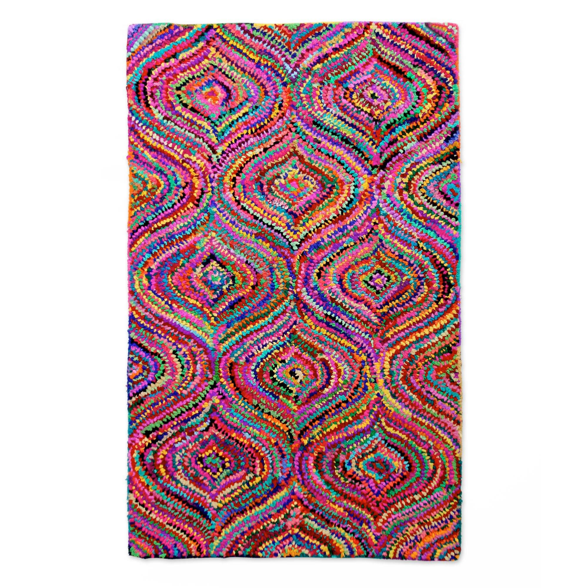 Novica Patterned Handmade Pink Purple Area Rug Reviews