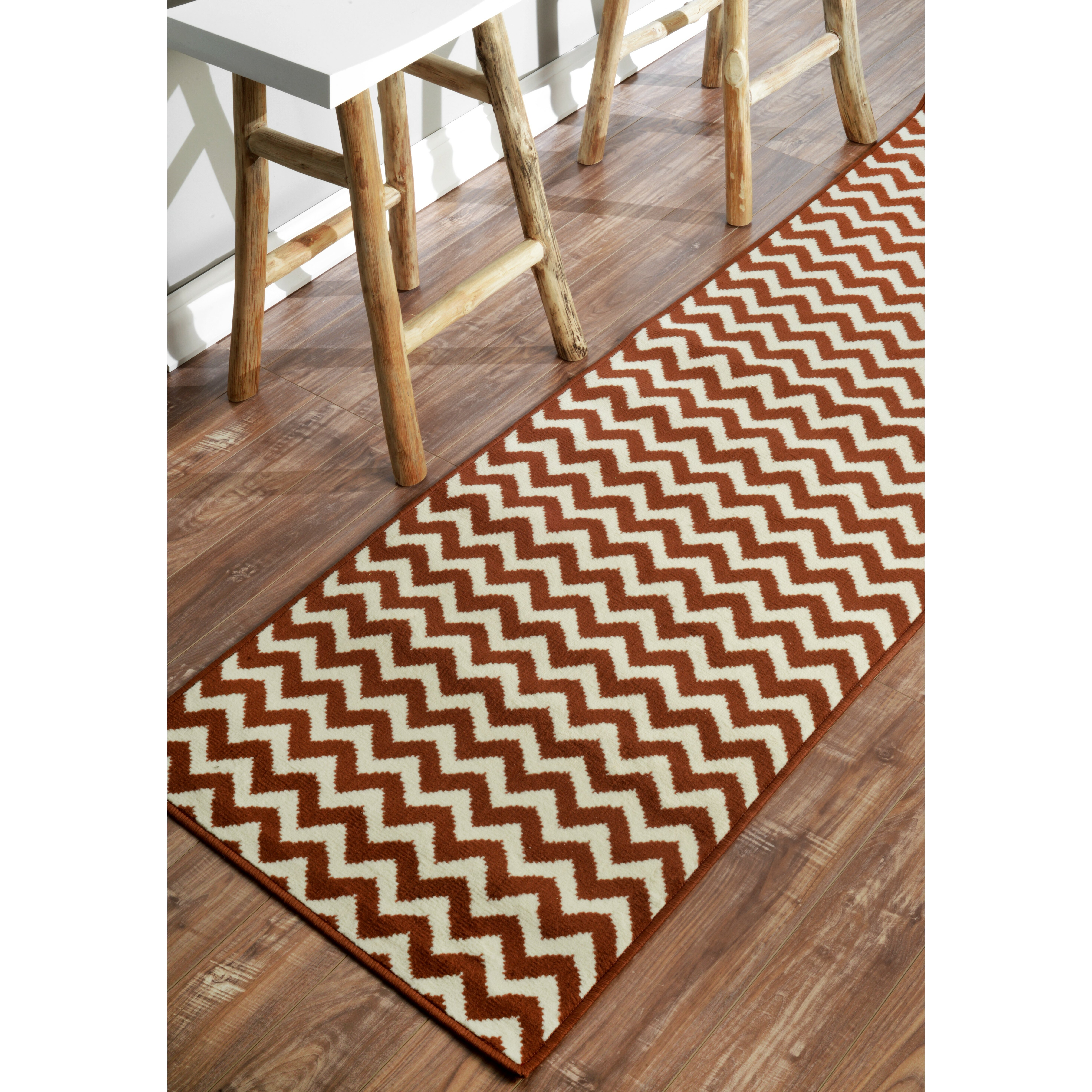 Chevron Knot Rug Ivory: NuLOOM Allure Brown/Ivory Chevron Area Rug & Reviews
