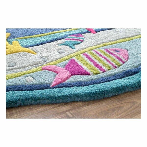 Sea Life Turtle Wave Rug2 Bath Mat: NuLOOM Kinder Under The Ocean Blue Area Rug & Reviews