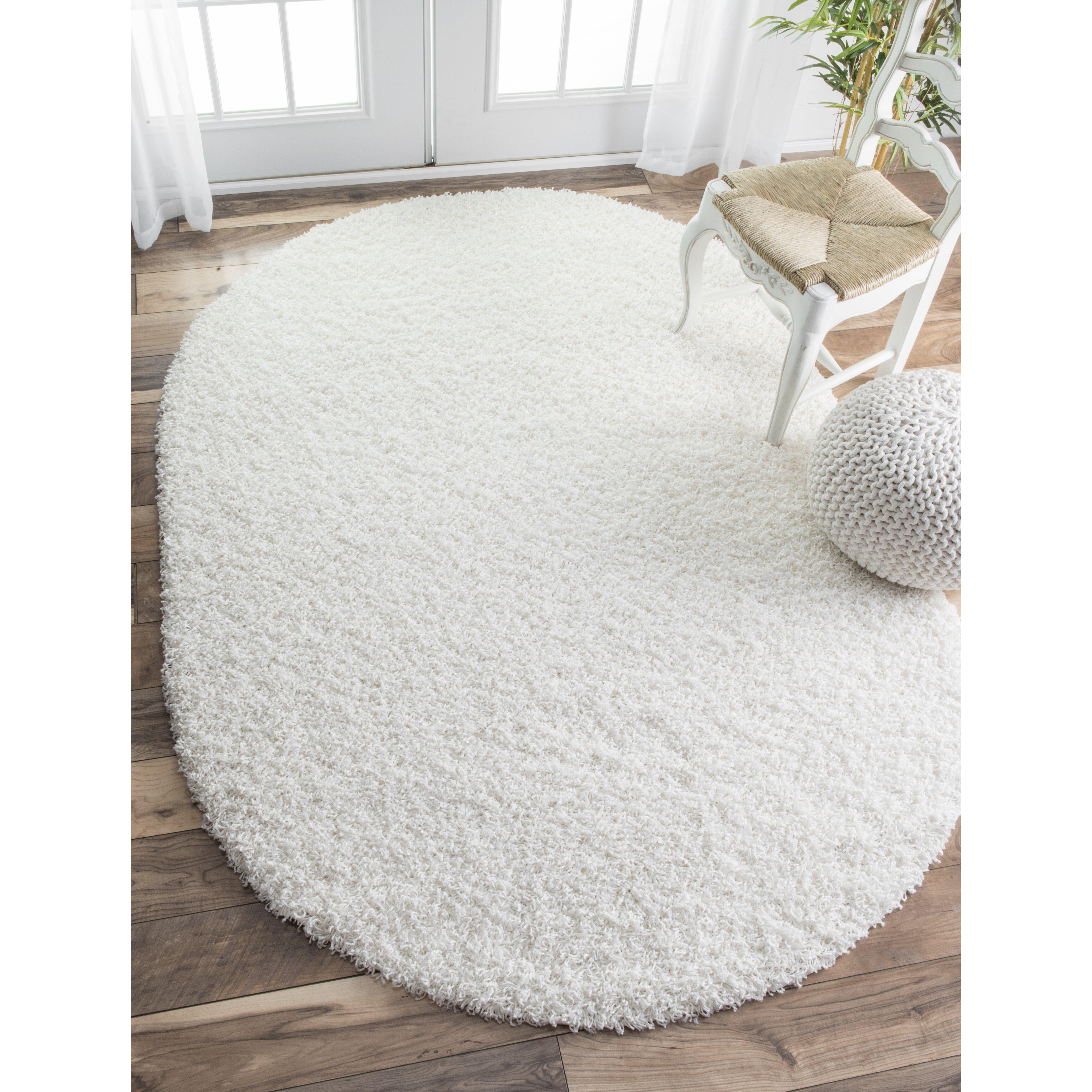 nuloom serano shag white area rug reviews wayfair