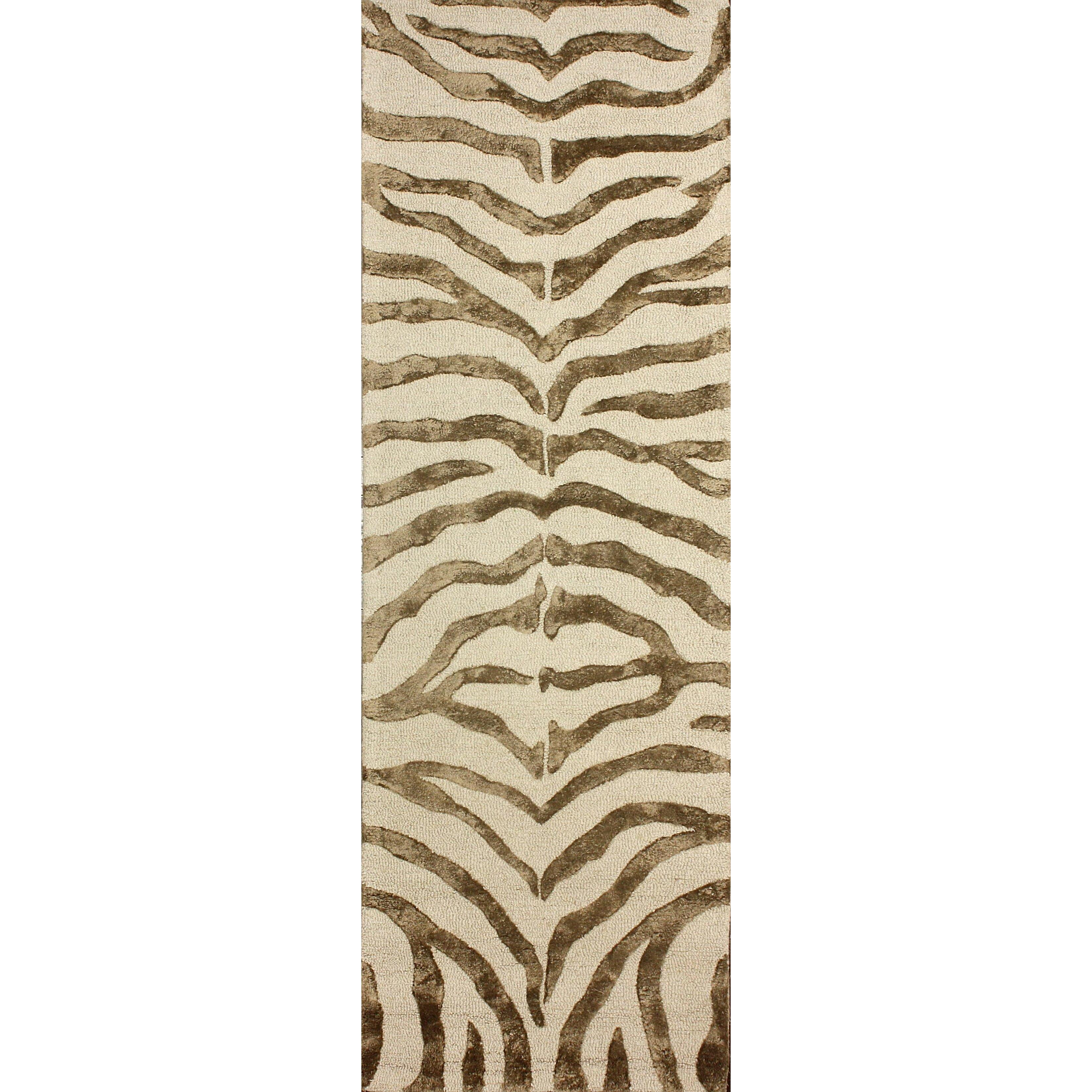 NuLOOM Earth Soft Zebra Brown Area Rug & Reviews