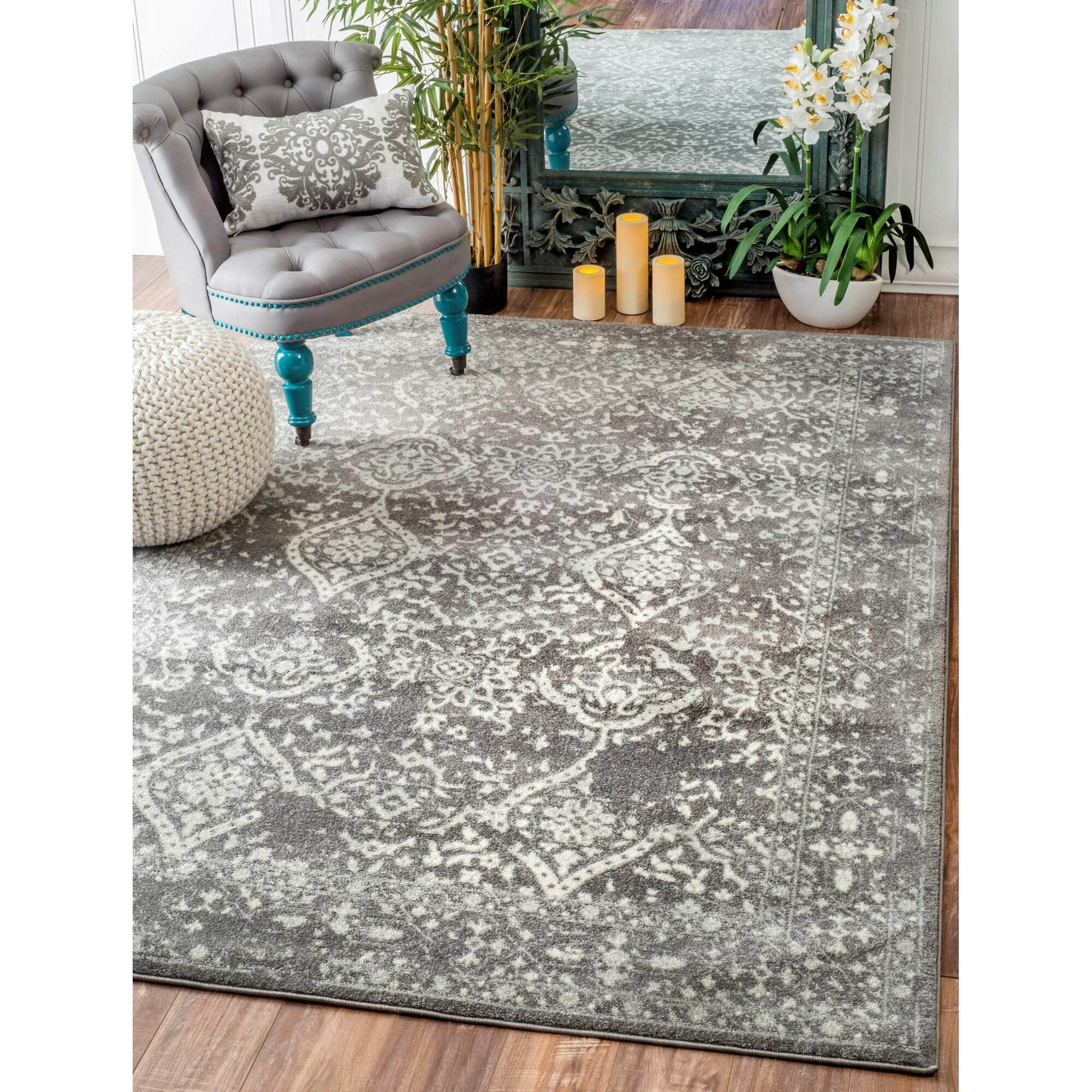 Nuloom Vintage Mabelle Silver Area Rug Amp Reviews Wayfair
