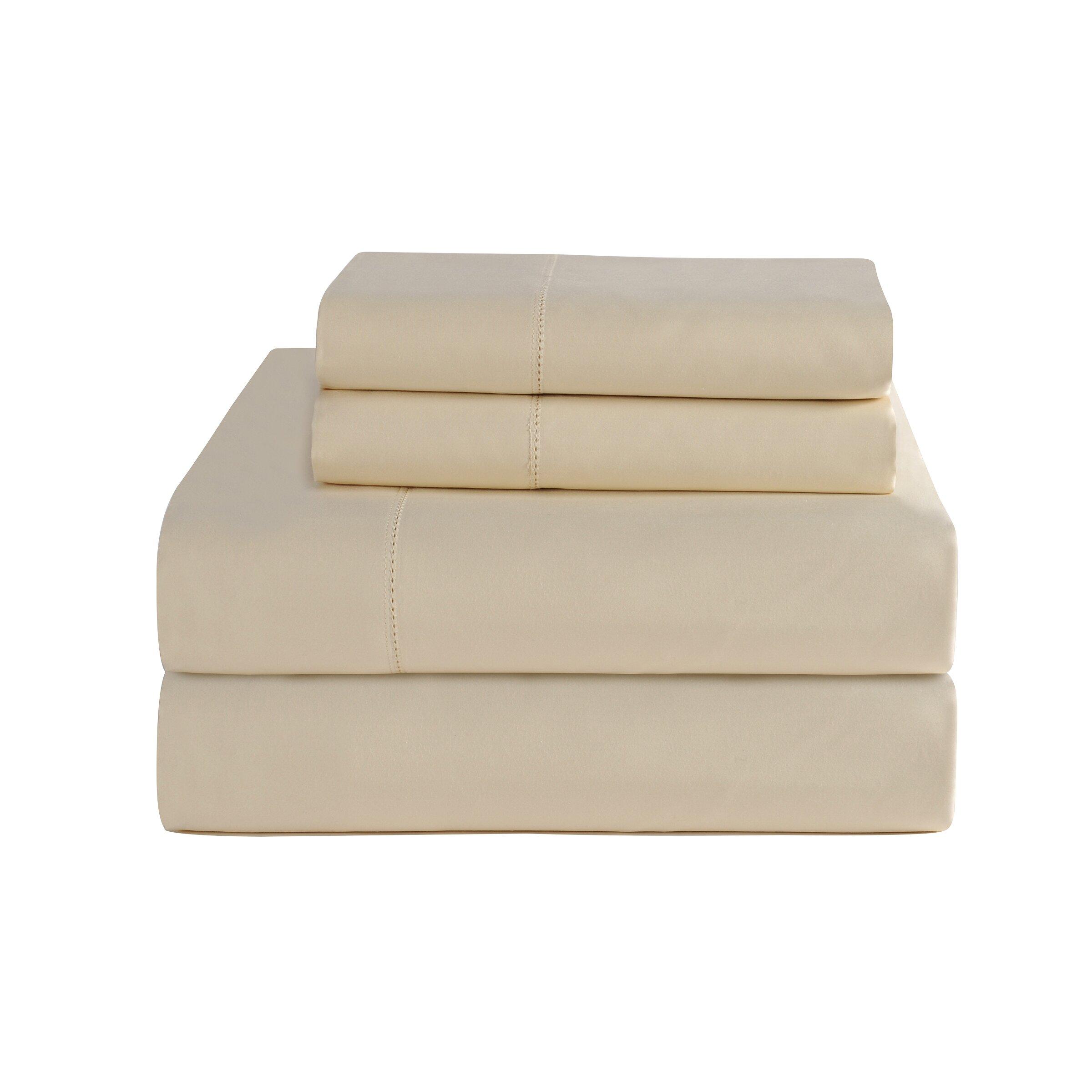 pointehaven 4 piece 800 thread count deep pocket luxury sheet set reviews wayfair. Black Bedroom Furniture Sets. Home Design Ideas