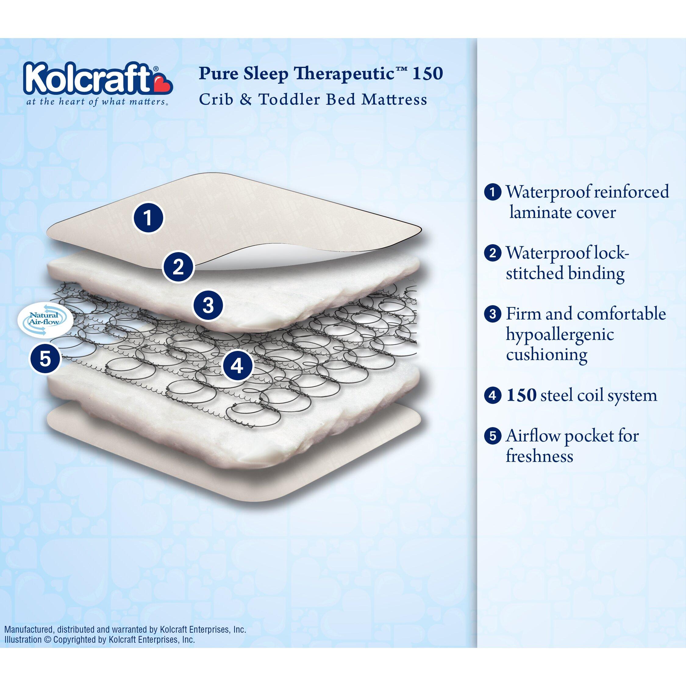 Kolcraft Pure Sleep Therapeutic 150 Crib Amp 5 Quot Toddler Bed Mattress Amp Reviews Wayfair