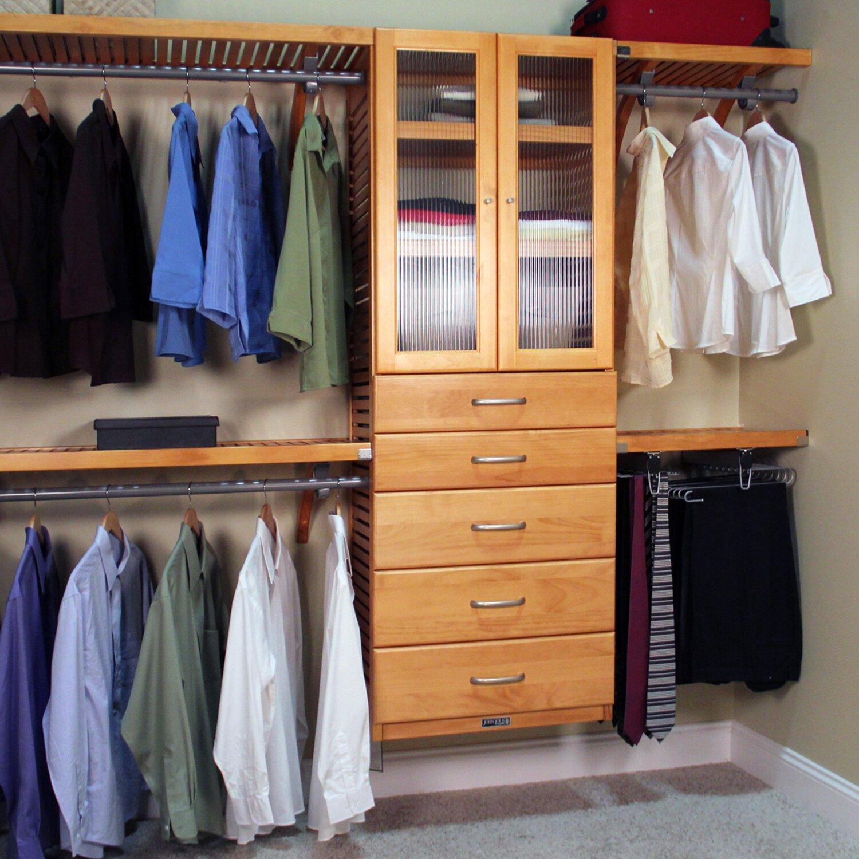 John Louis Home 120 Quot W Closet System Amp Reviews Wayfair