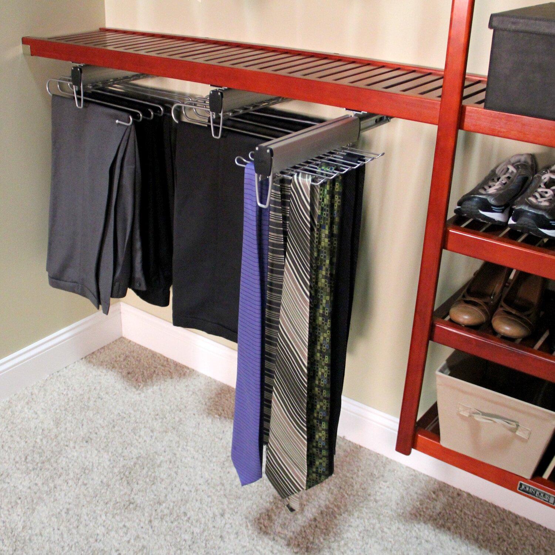 Best Tie Racks For Closets: John Louis Home John Louis Home Under Shelf Mount Tie
