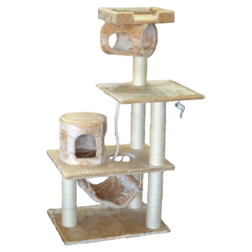 Go pet club 62 cat tree in beige reviews wayfair for Furniture 2 go