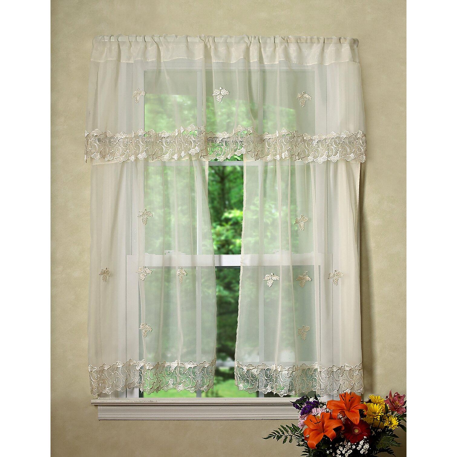 violet linen lima sheer kitchen curtain valance and tier. Black Bedroom Furniture Sets. Home Design Ideas