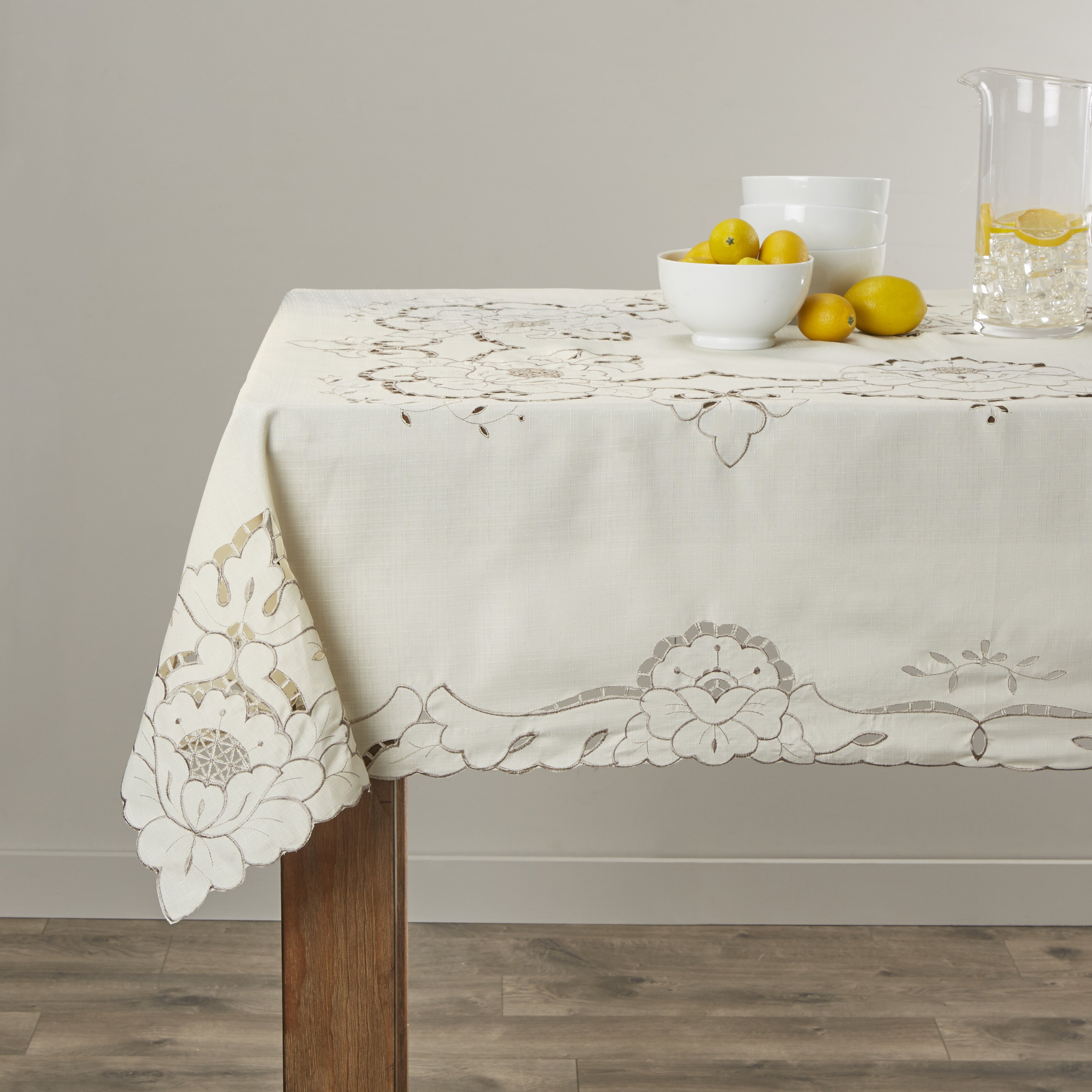 Violet Linen Sapphire Embroidered Tablecloth Amp Reviews